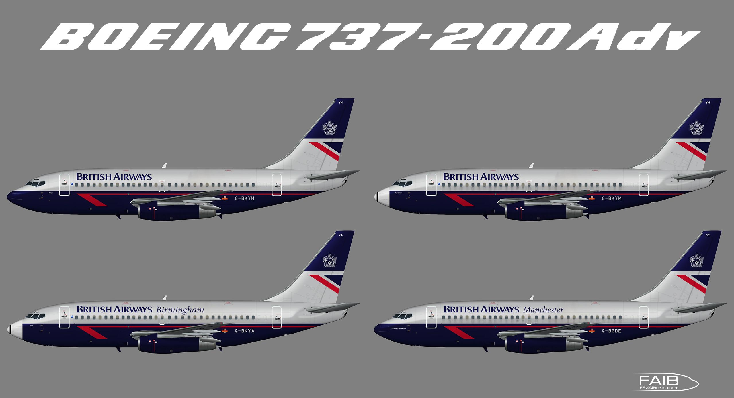 """British Airways """"Landor"""" Boeing 737-200Adv – Juergen's paint"""