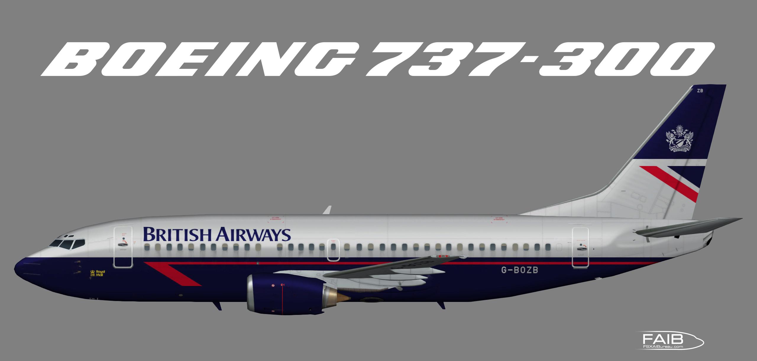 """British Airways """"Landor"""" Boeing 737-300"""