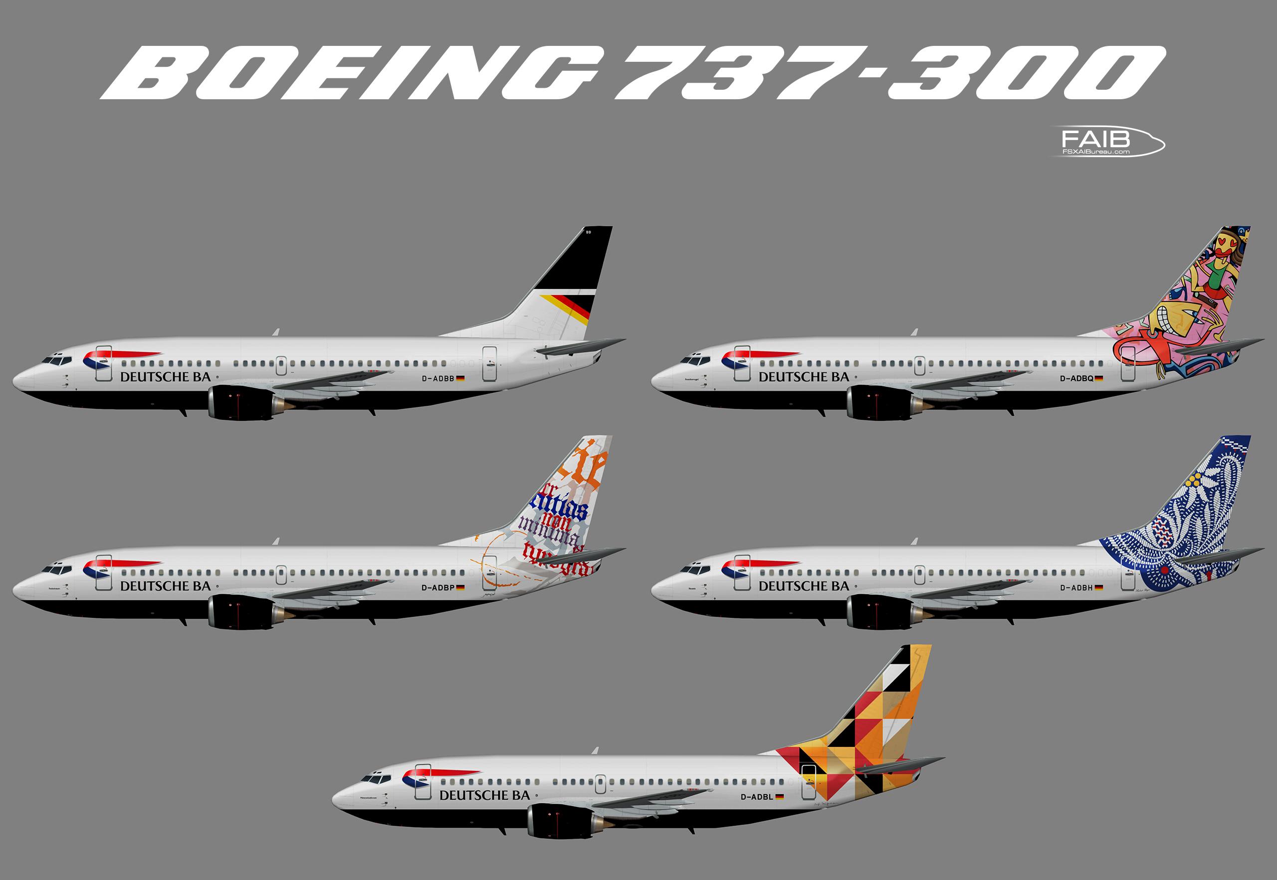 """Deutsche BA """"Art-Ways"""" Boeing 737-300 – Juergen's paint hangar"""