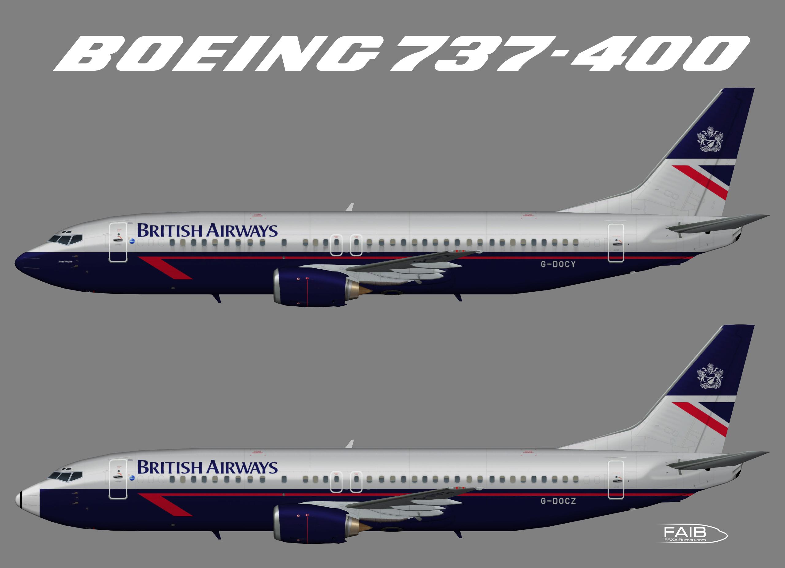 """British Airways """"Landor"""" Boeing 737-400"""