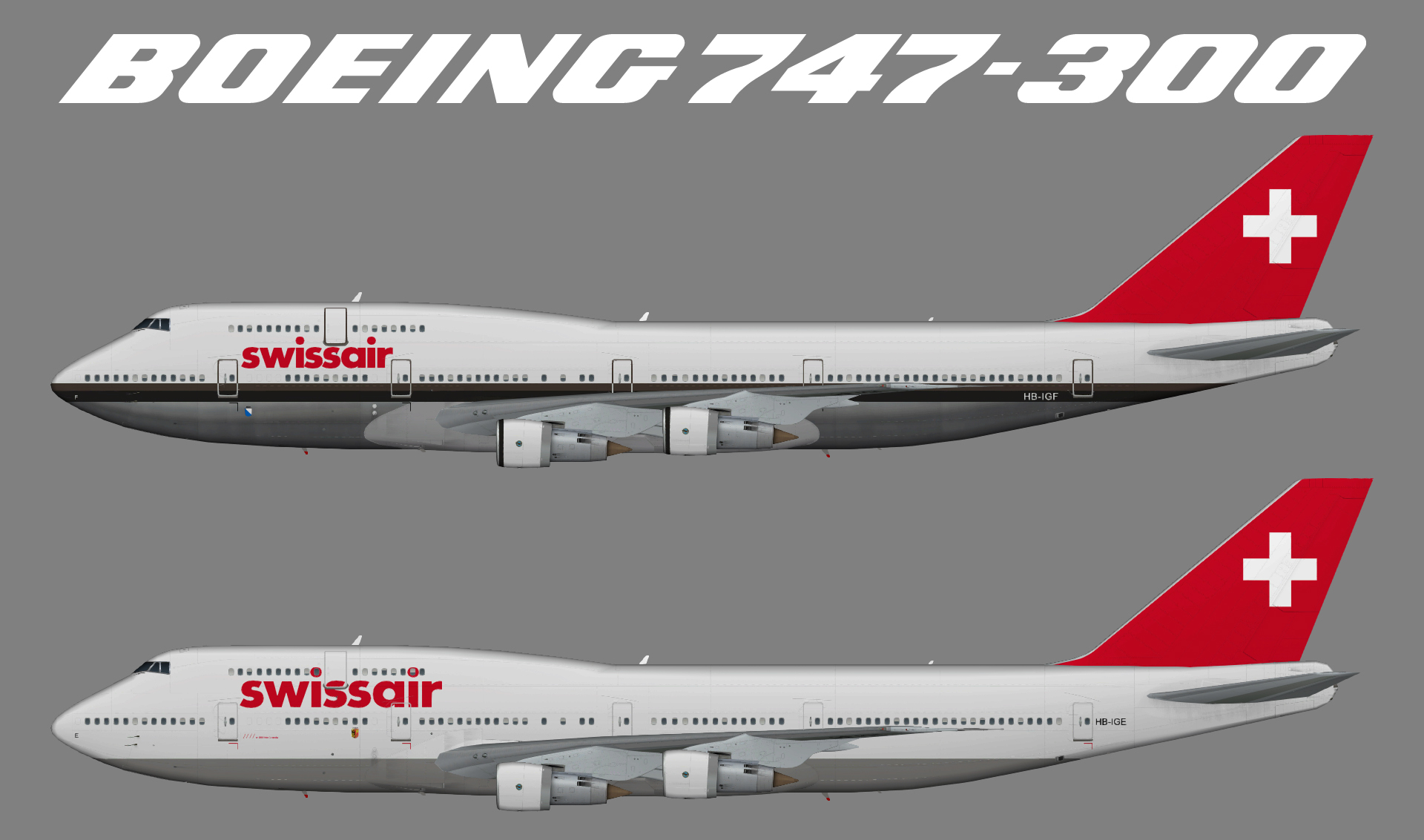 Swissair Boeing 747-300