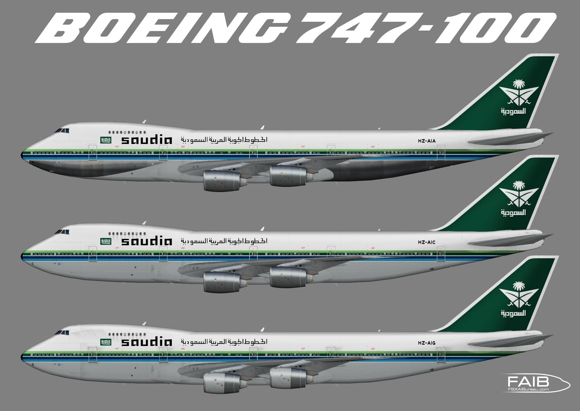 Saudia Boeing 747-100