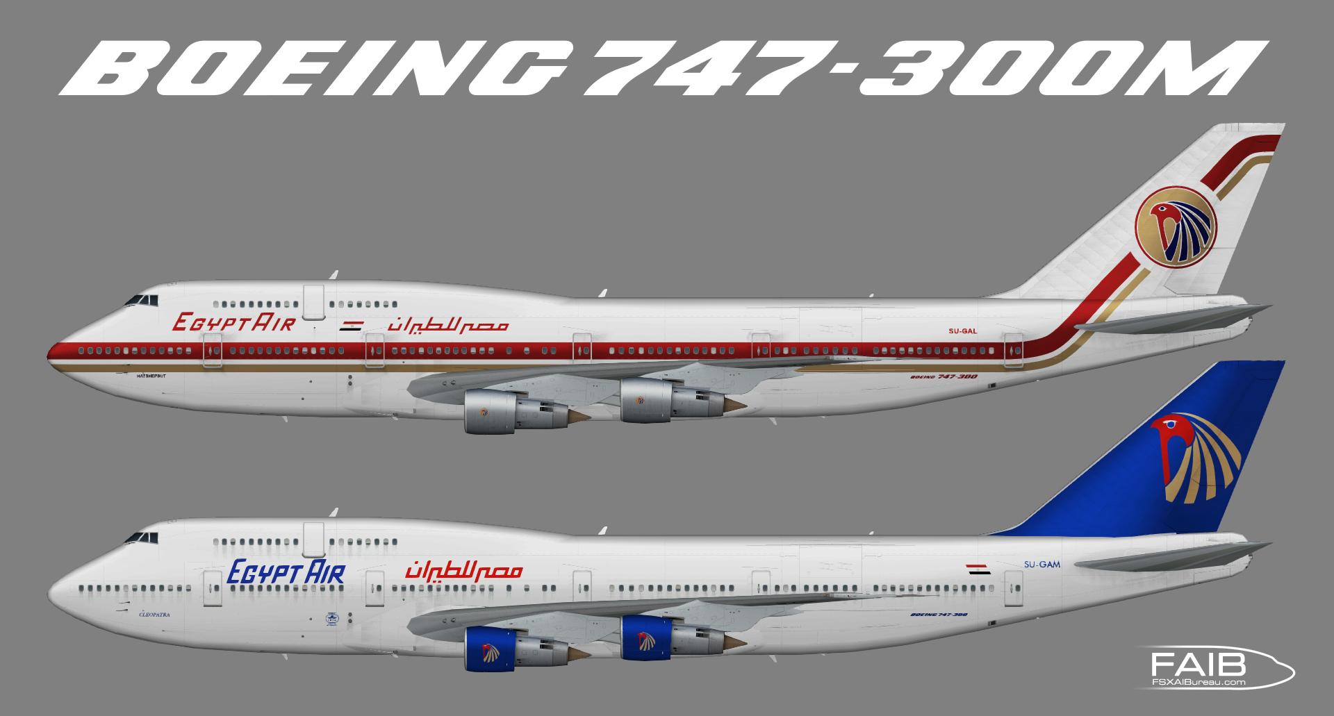 EgyptAir Boeing 747-300M