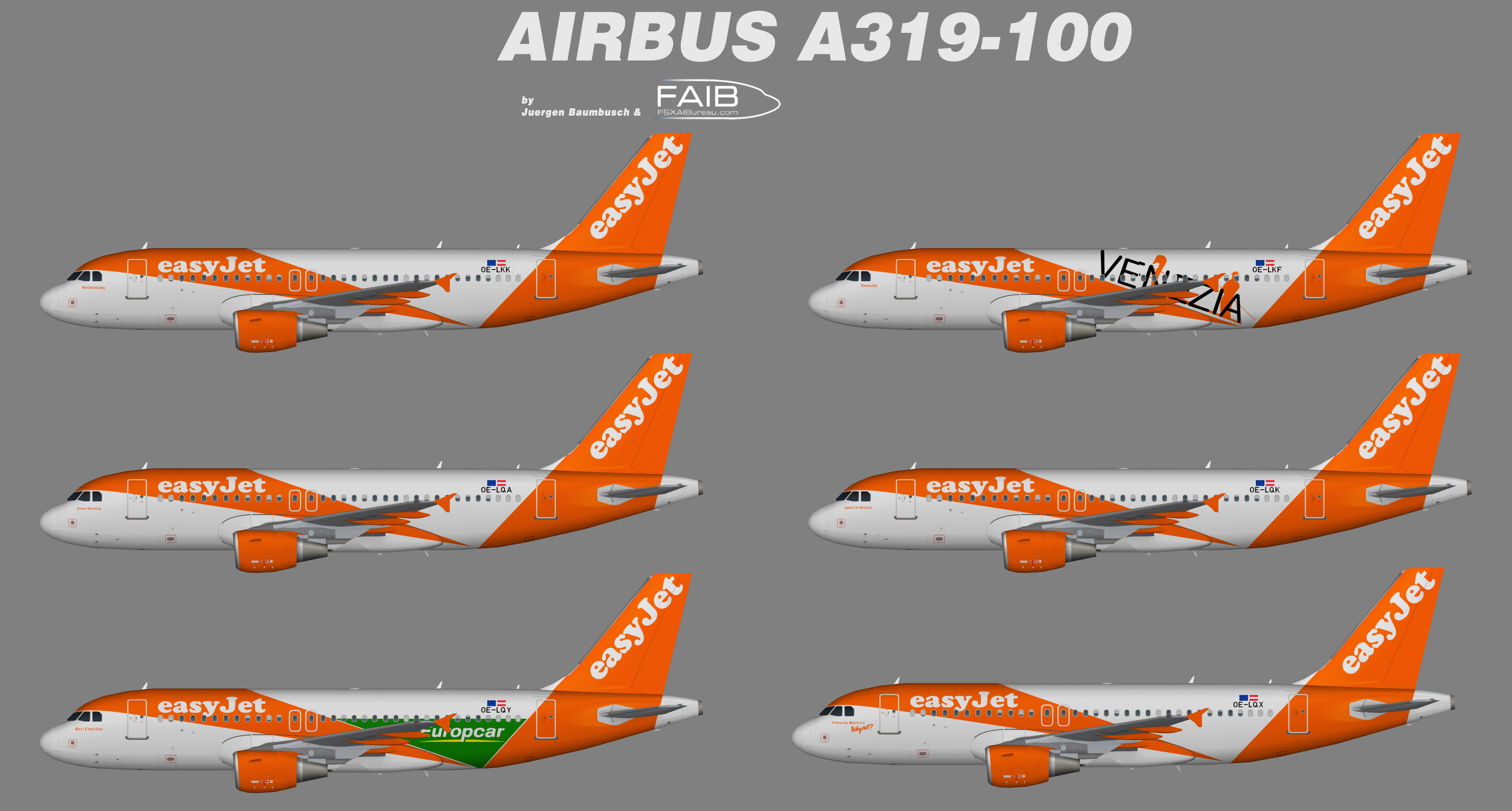 Easyjet Europe Specials Airbus A319-100