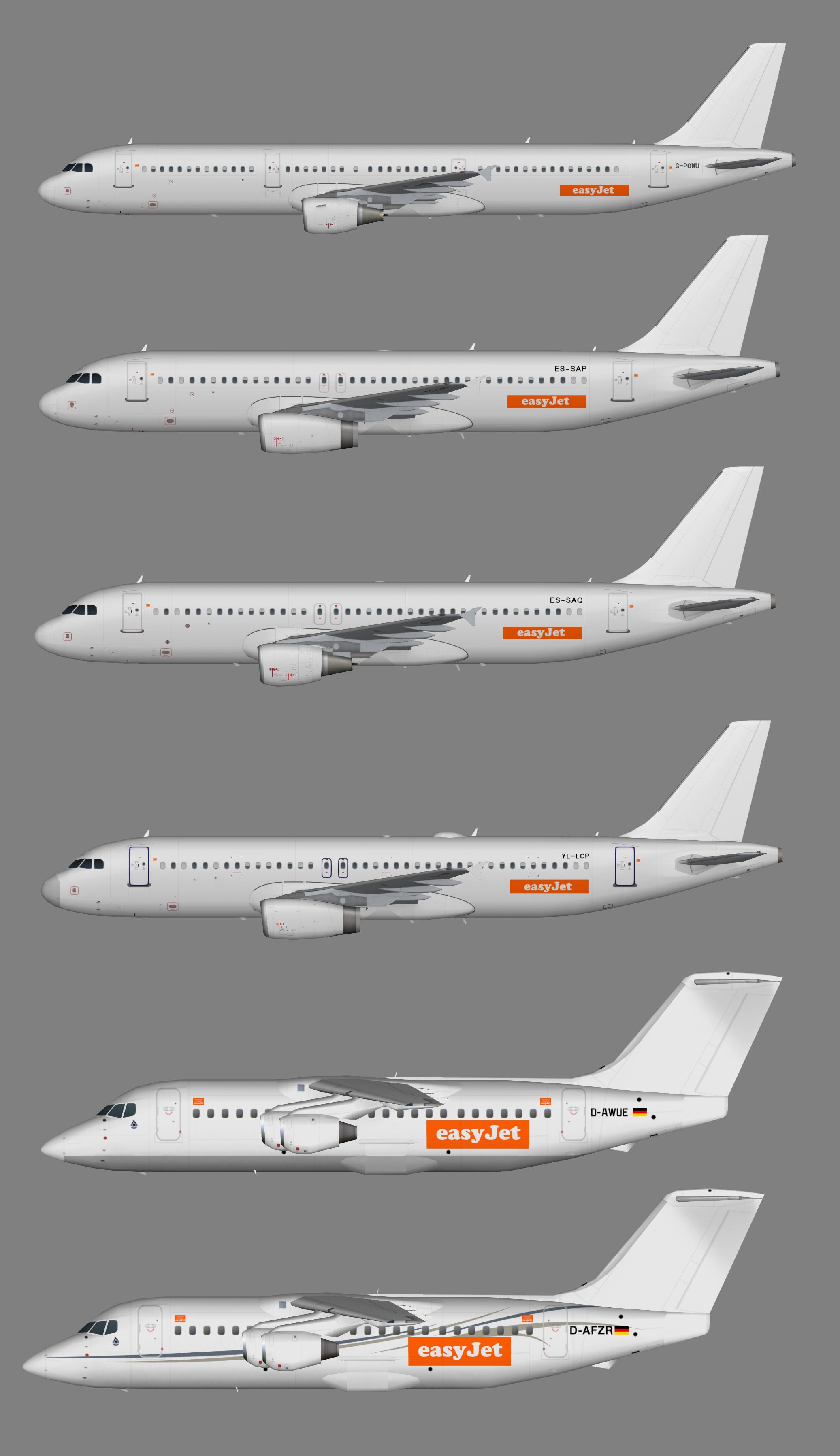 Easyjet leased stuff Summer 2018 (A321.320,BAe146-200)