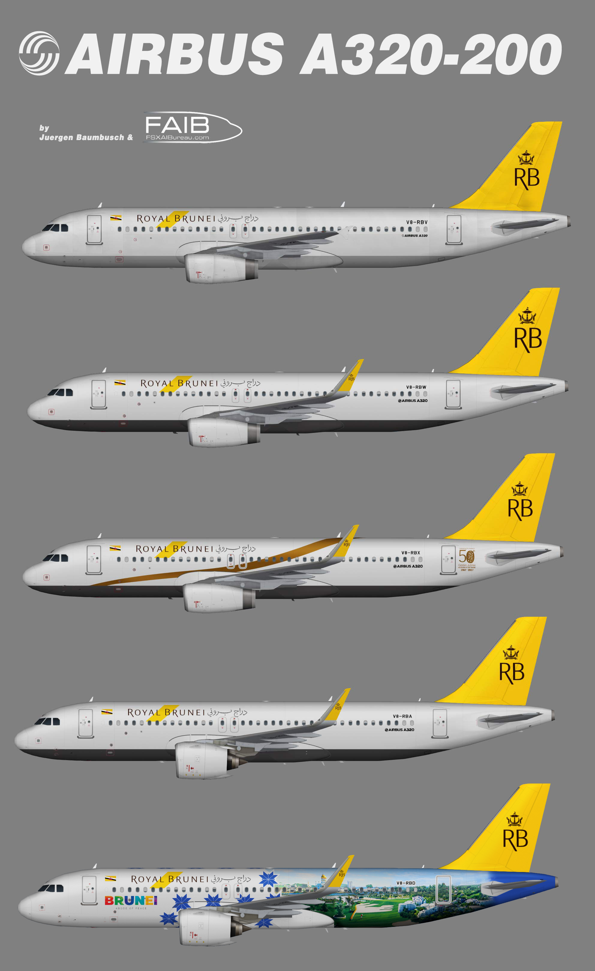 Royal Brunei Airlines Airbus A320-200