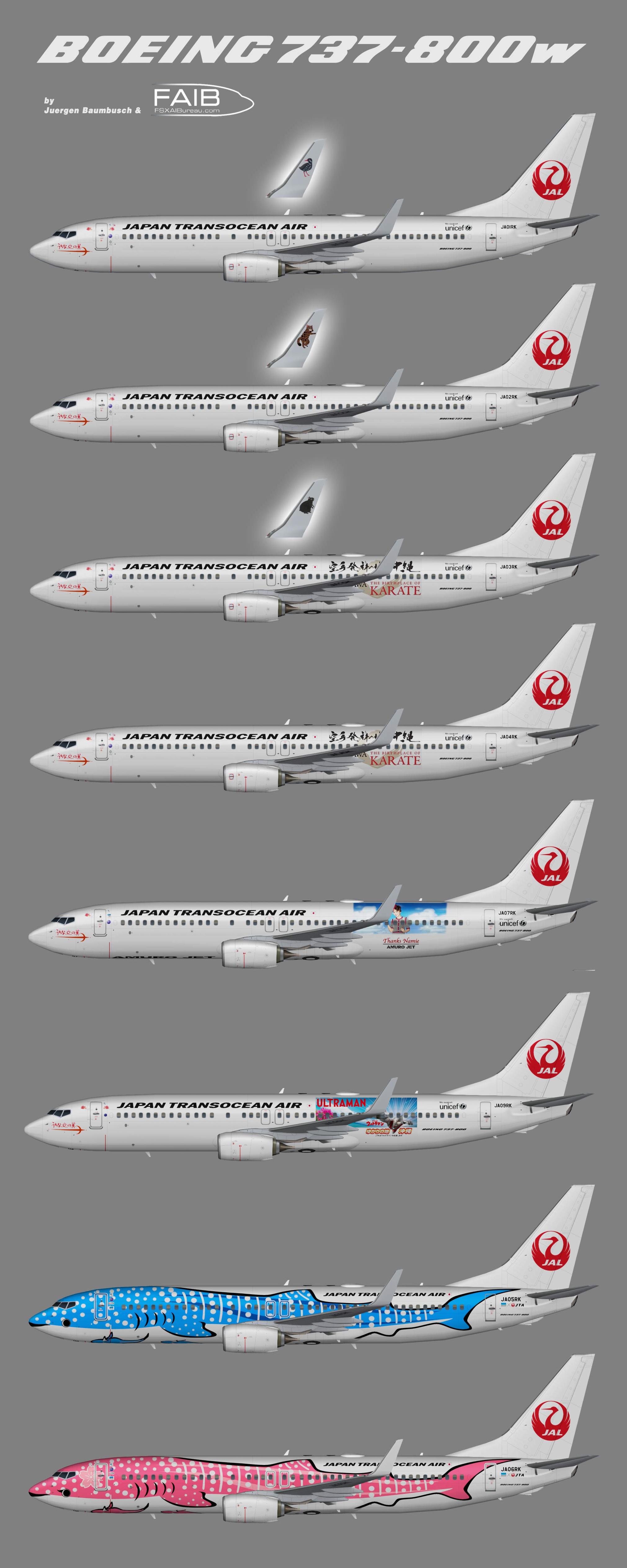 Japan Transocean Air Boeing 737-800w