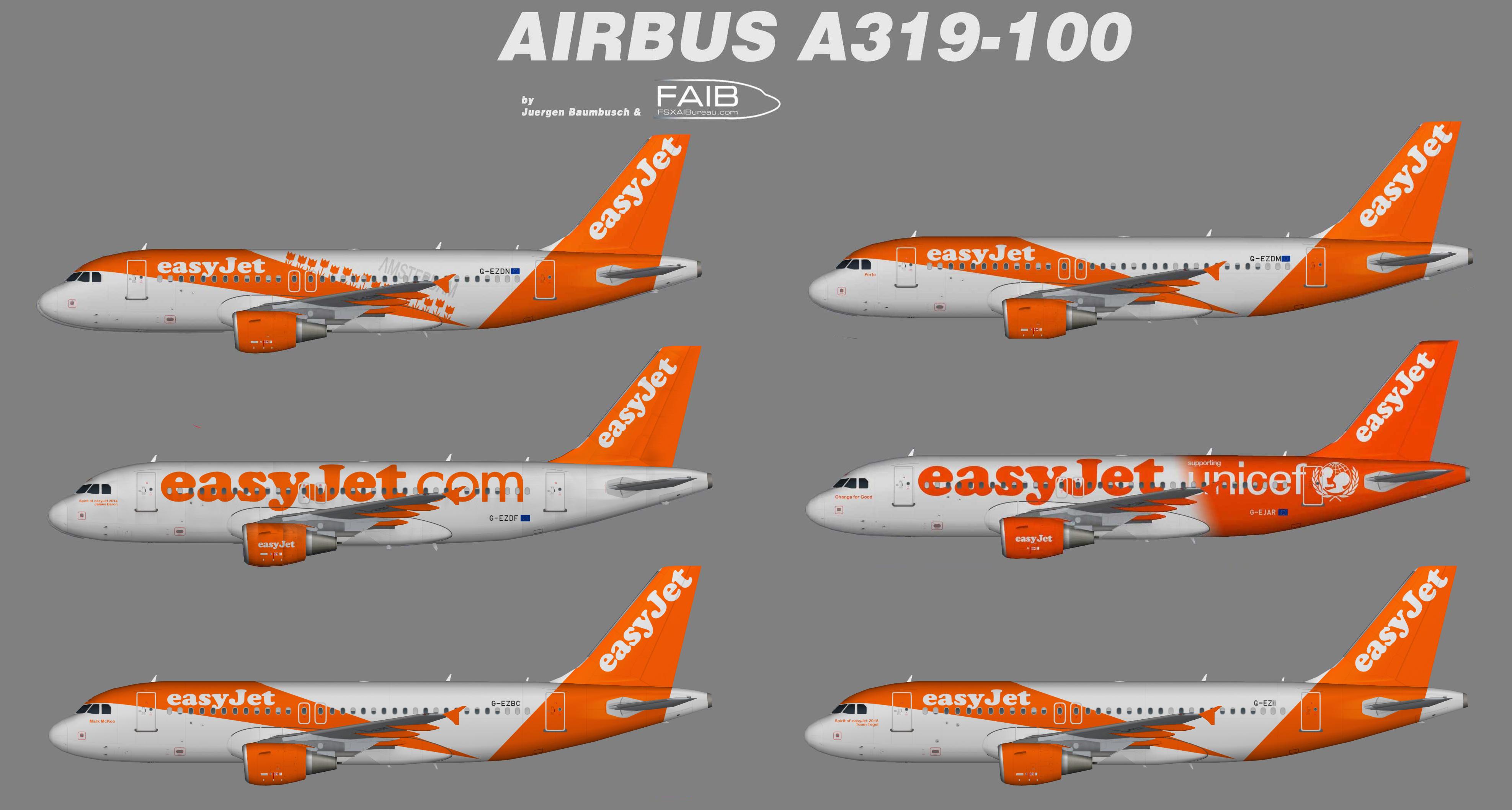 Easyjet Airbus A319 Specials