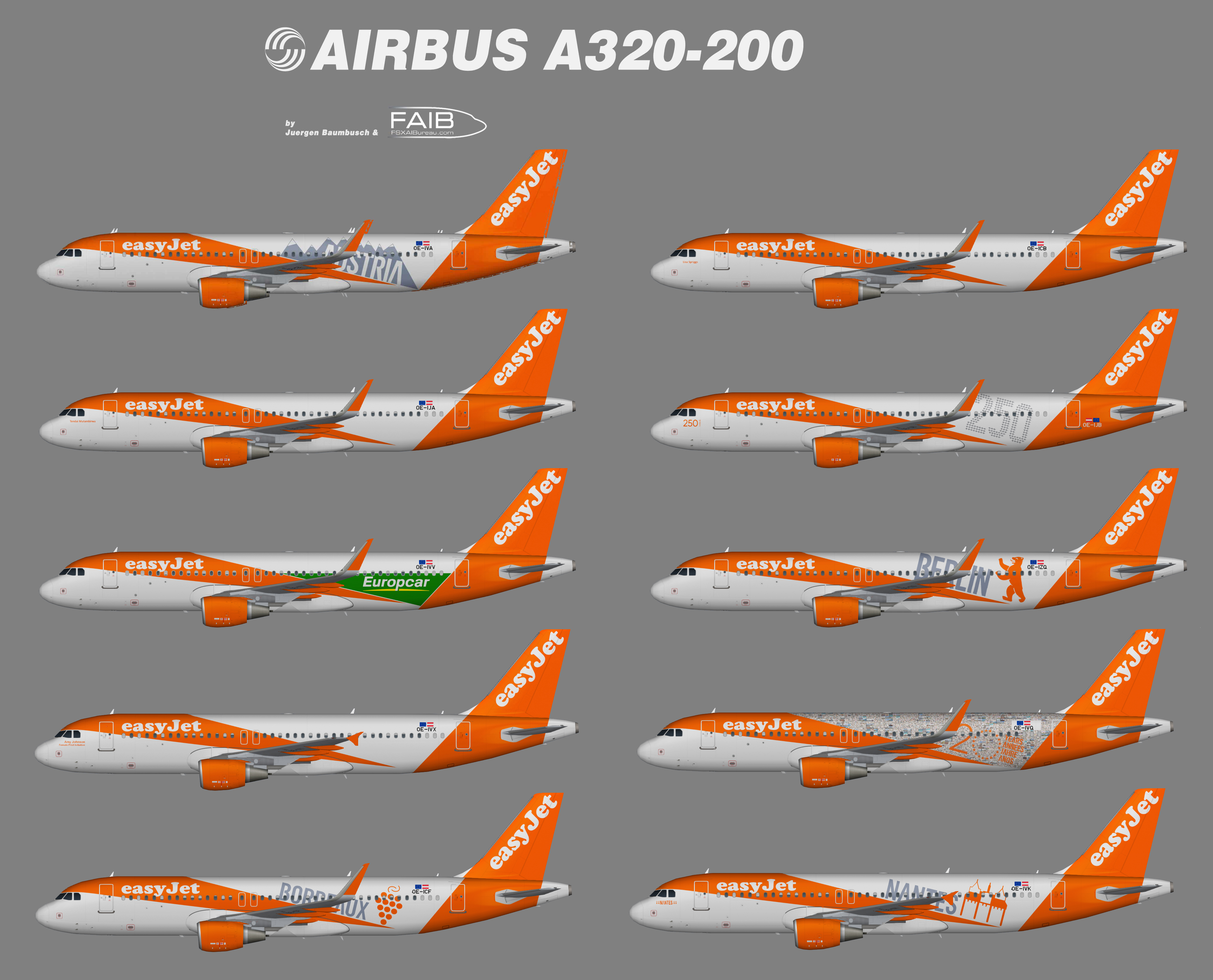 Easyjet Europe Specials Airbus A320-200