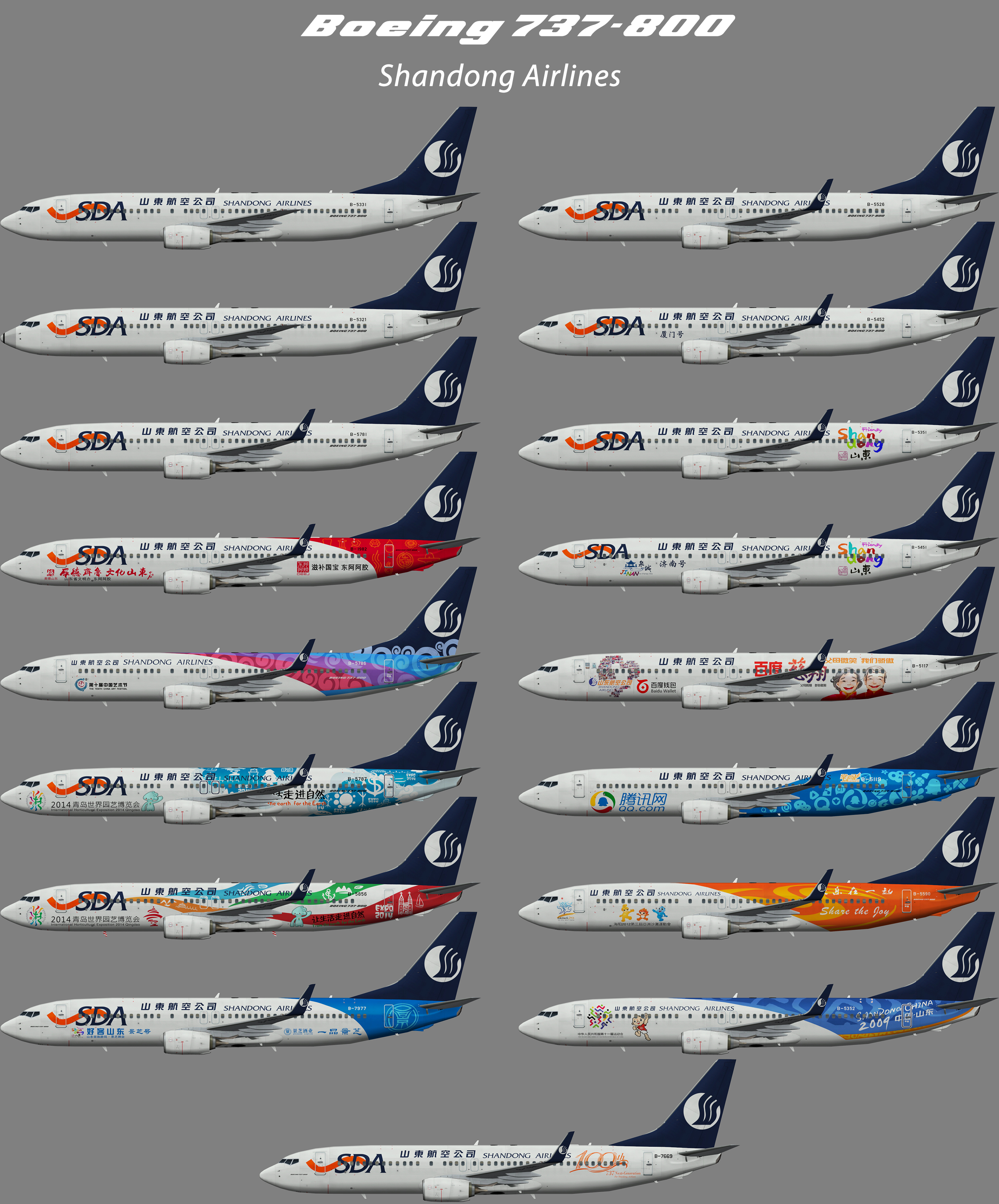 Shandong Airlines Boeing 737-800 – Nils