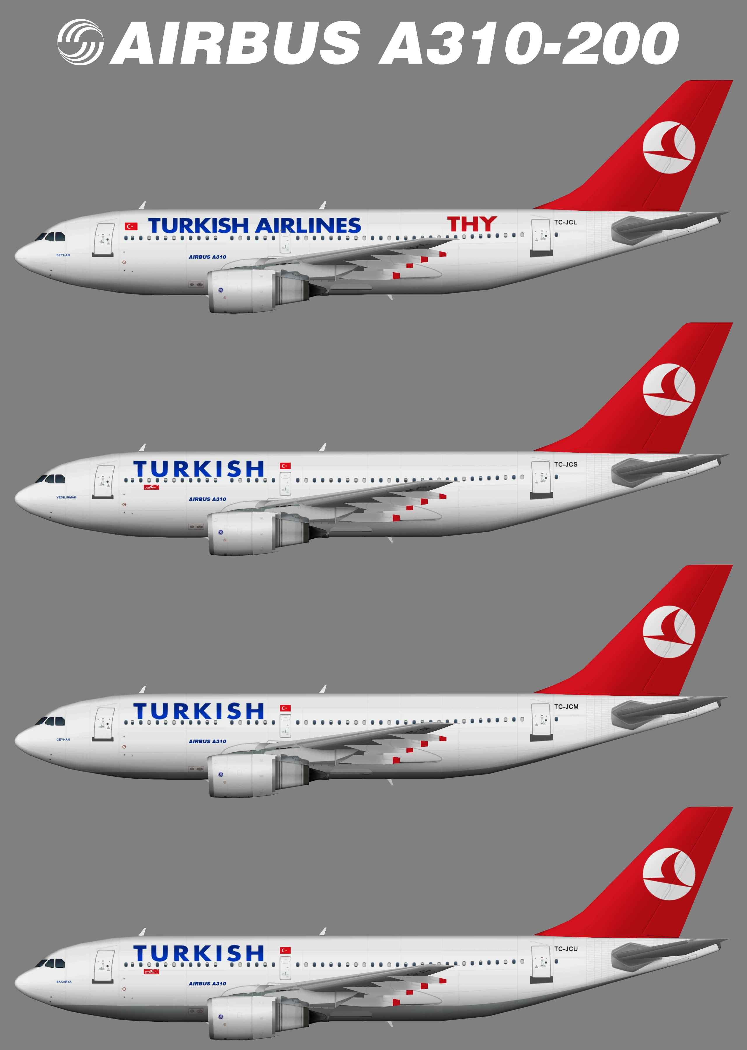Turkish Airlines Airbus A310-200
