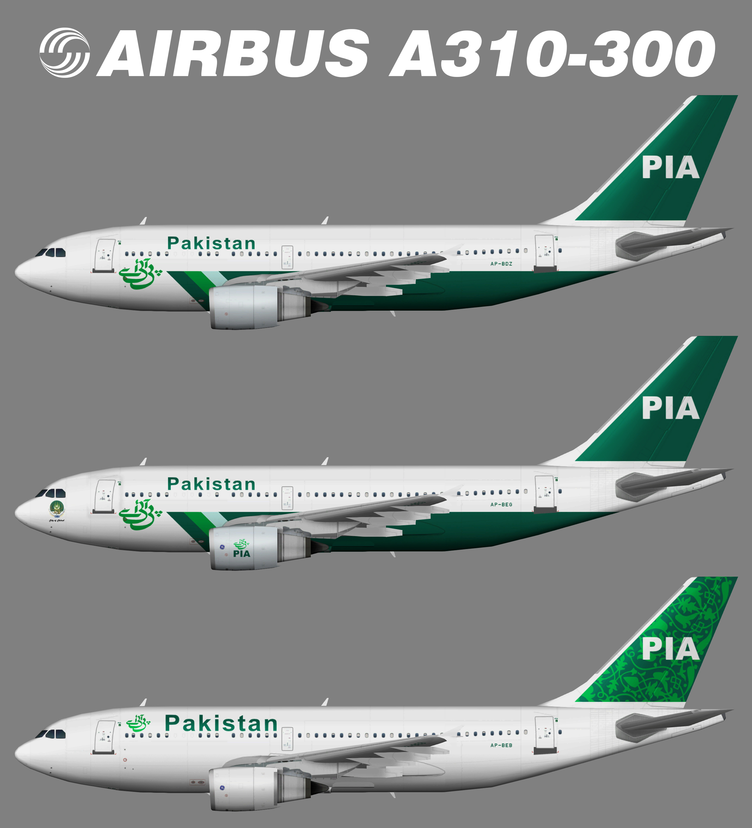Pakistan International Airlines PIA Airbus A310-300