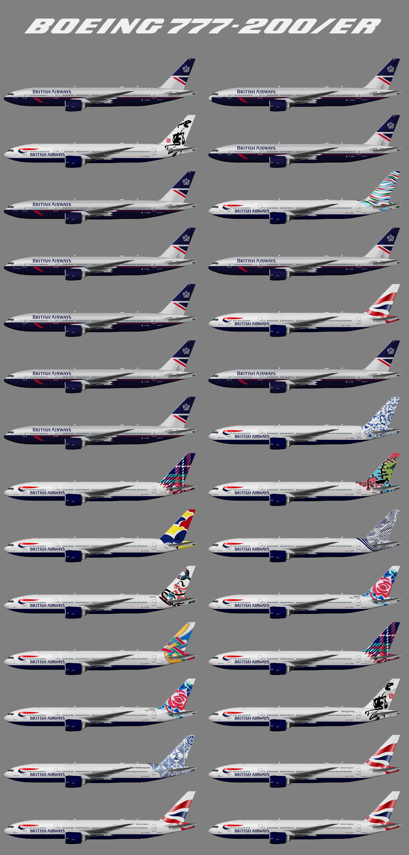 British Airways Retro Fleet Boeing 777-200/ER
