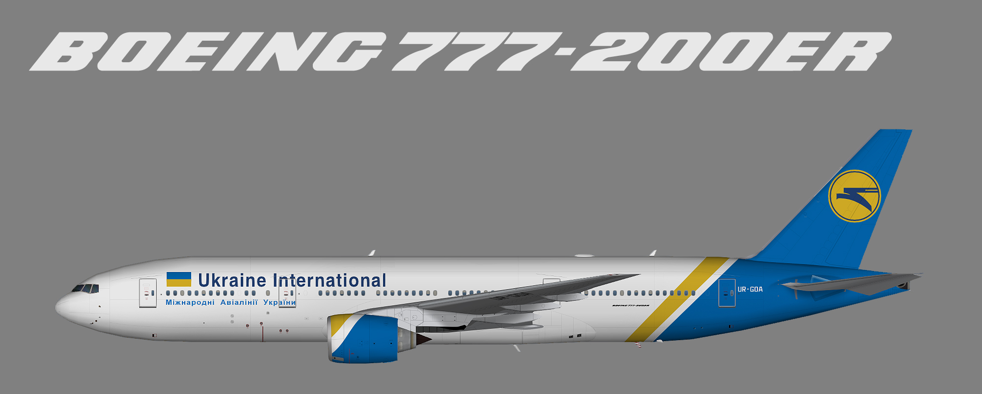 Ukraine International Airlines Boeing 777-200