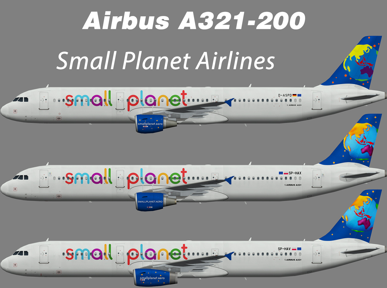 Small Planet Airlines Airbus A321-200 – Nils