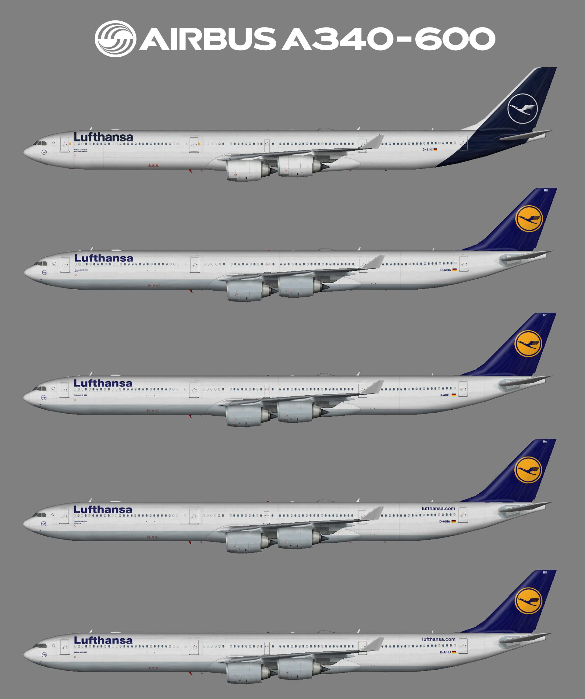 Lufthansa Airbus A340-600 (FSP)