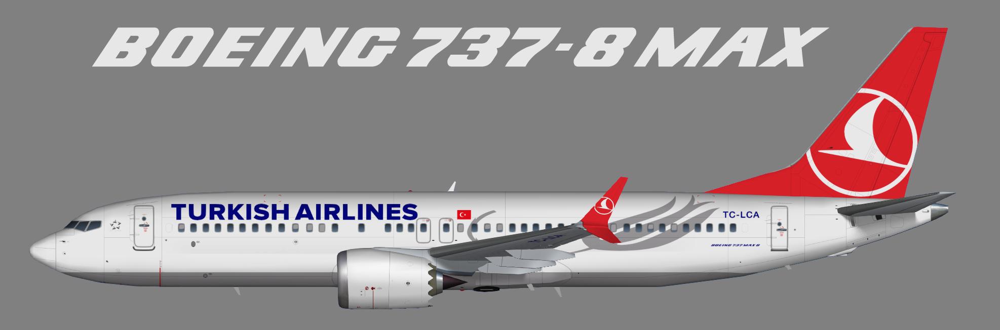 Turkish Airlines Boeing 737 MAX 8 – Juergen's paint hangar