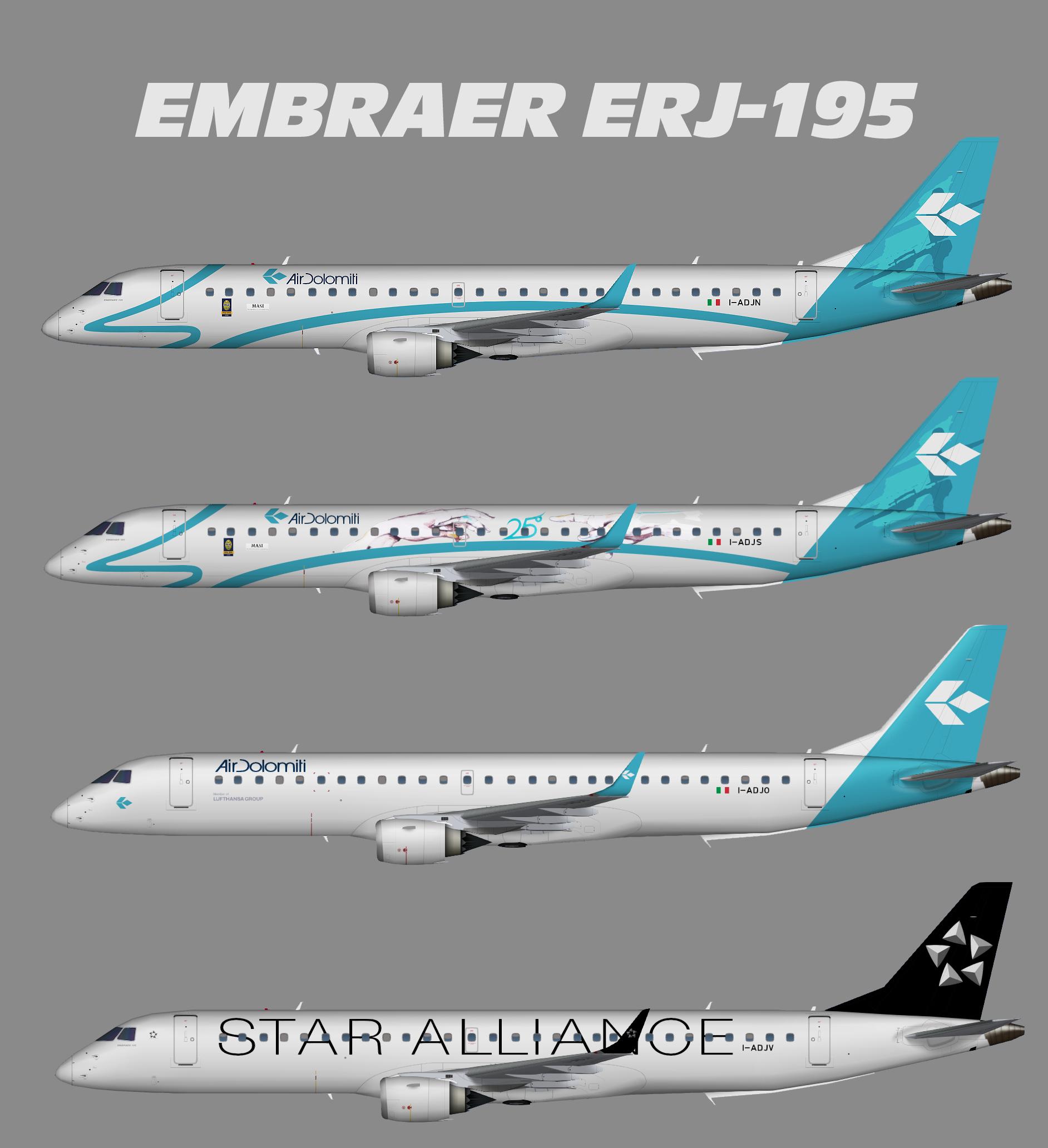 Air Dolomiti Embraer ERJ-190-200 (ERJ-195)
