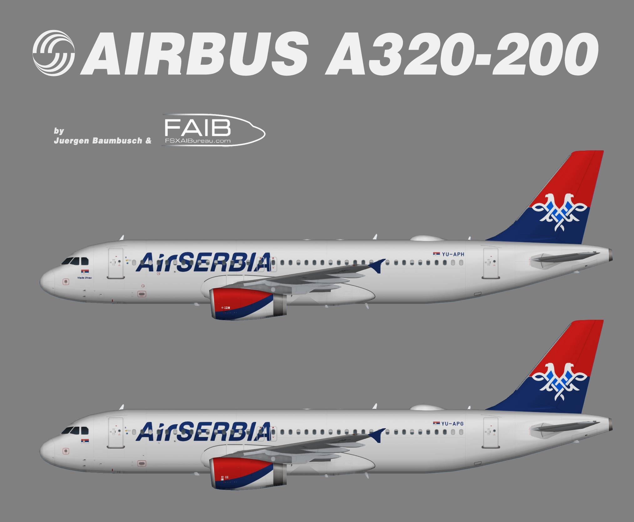 Air Serbia Airbus A320-200