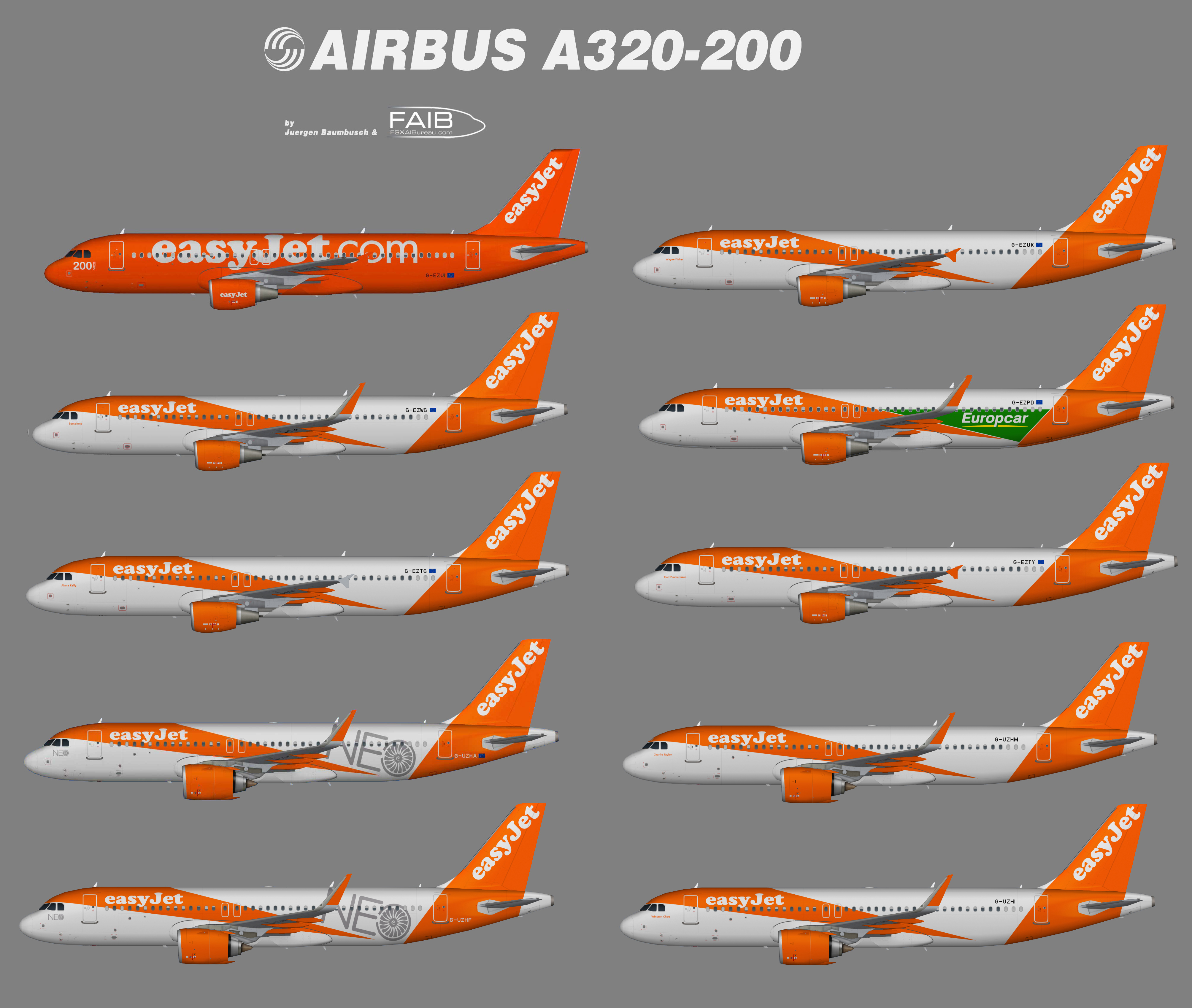 Easyjet Special Airbus A320
