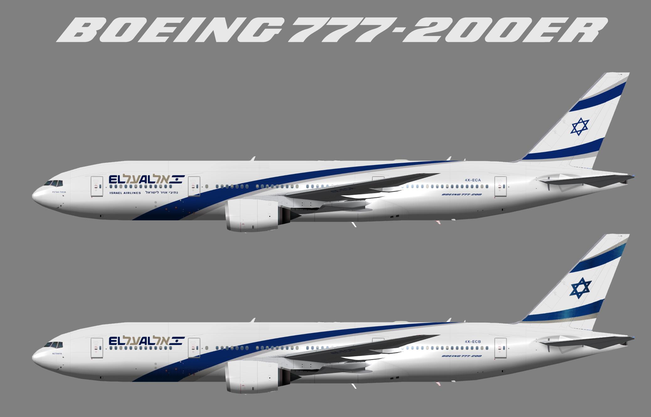Boeing 777-200 El Al Israeli Airlines