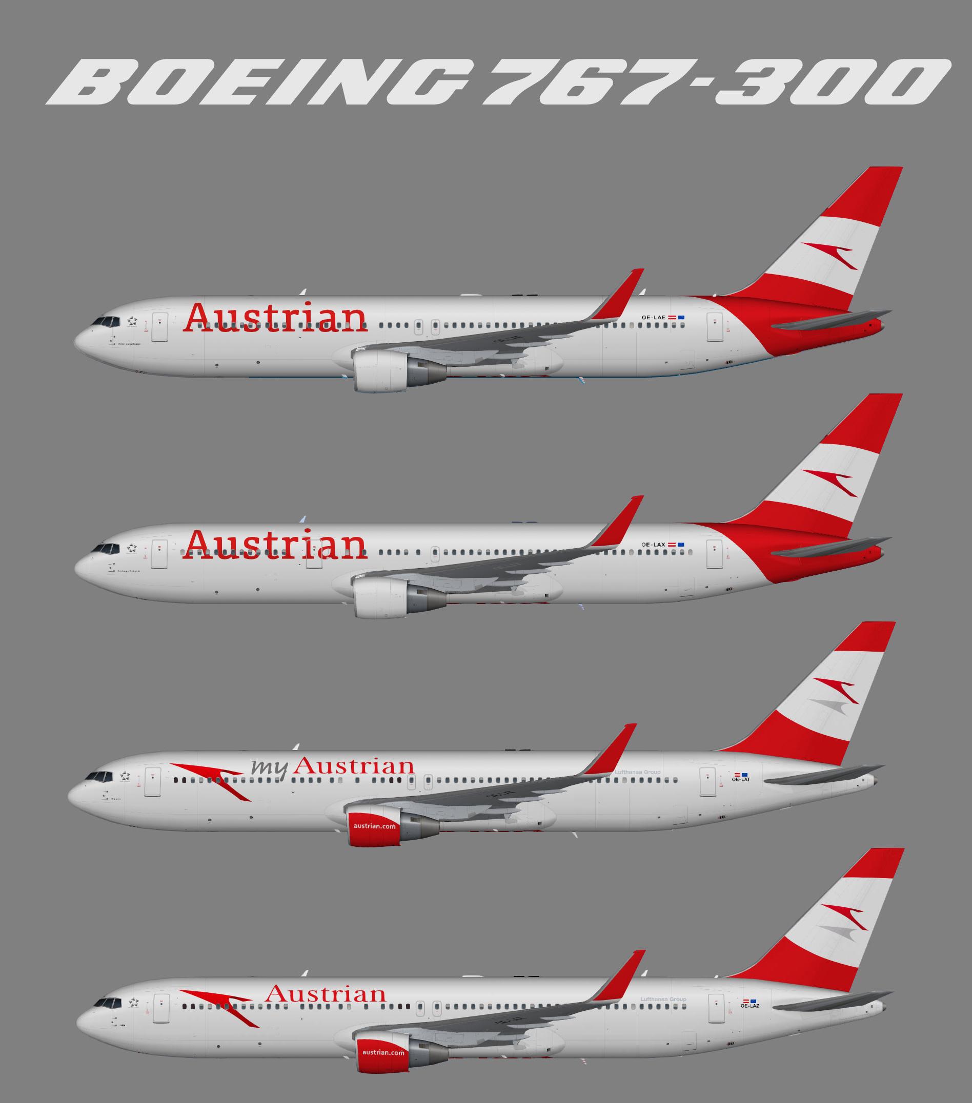 Austrian Airlines Boeing 767-300w