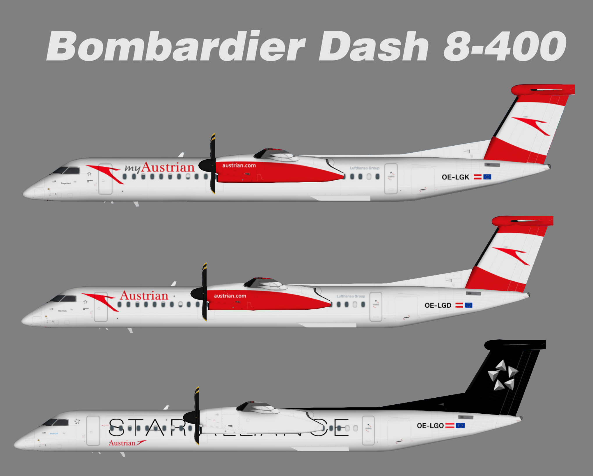 Austrian Airlines Bombardier Das8-Q400 New Color
