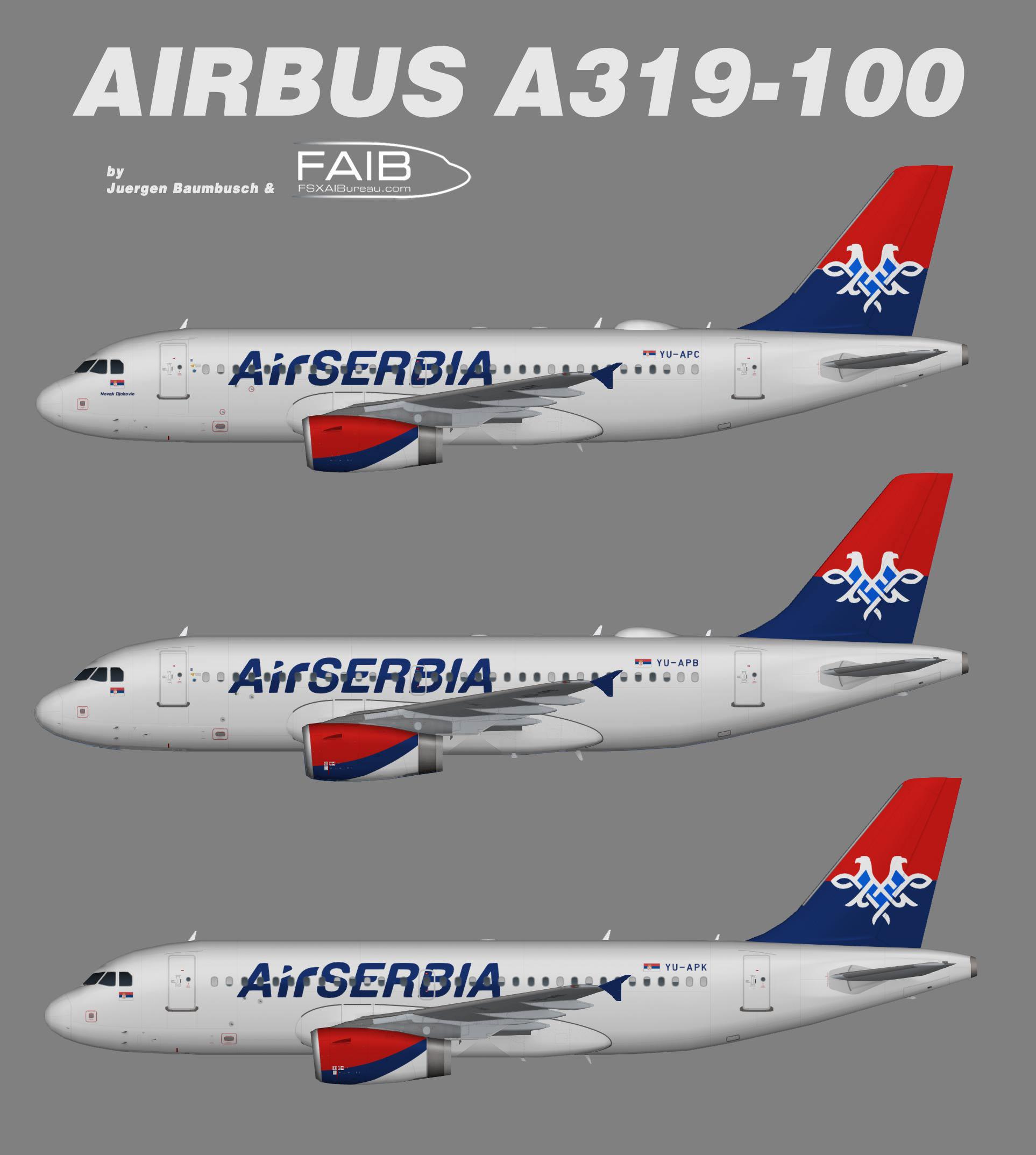 Air Serbia Airbus A319-100