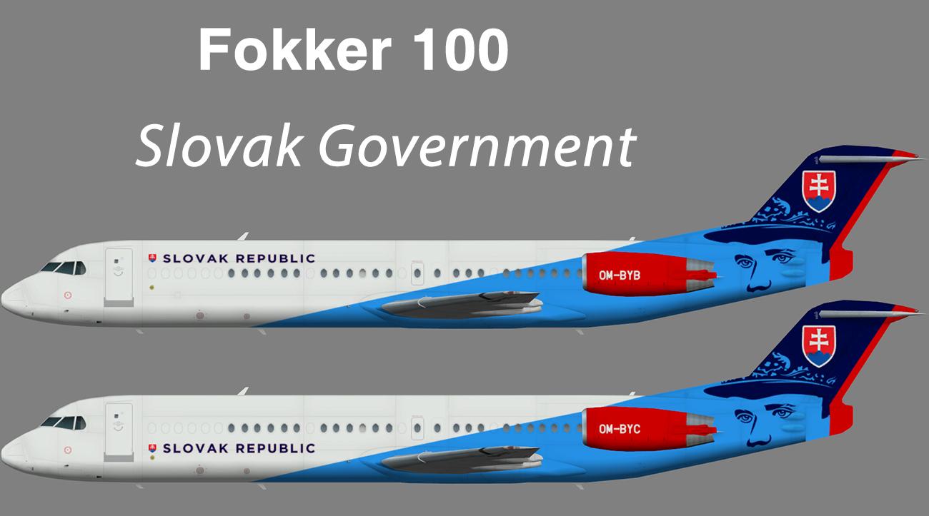 Slovak Government Fokker 100