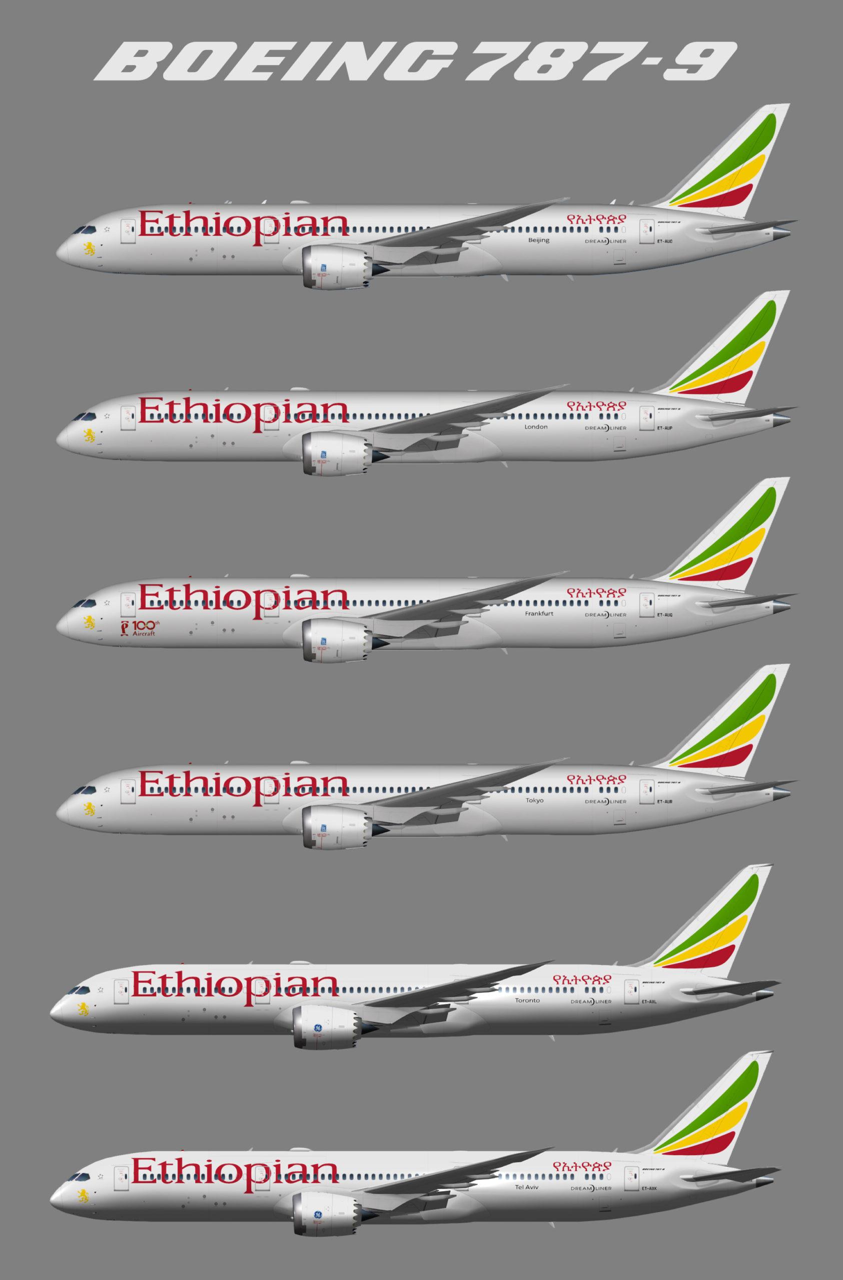 UTT Ethiopian Airlines Boeing 787-9