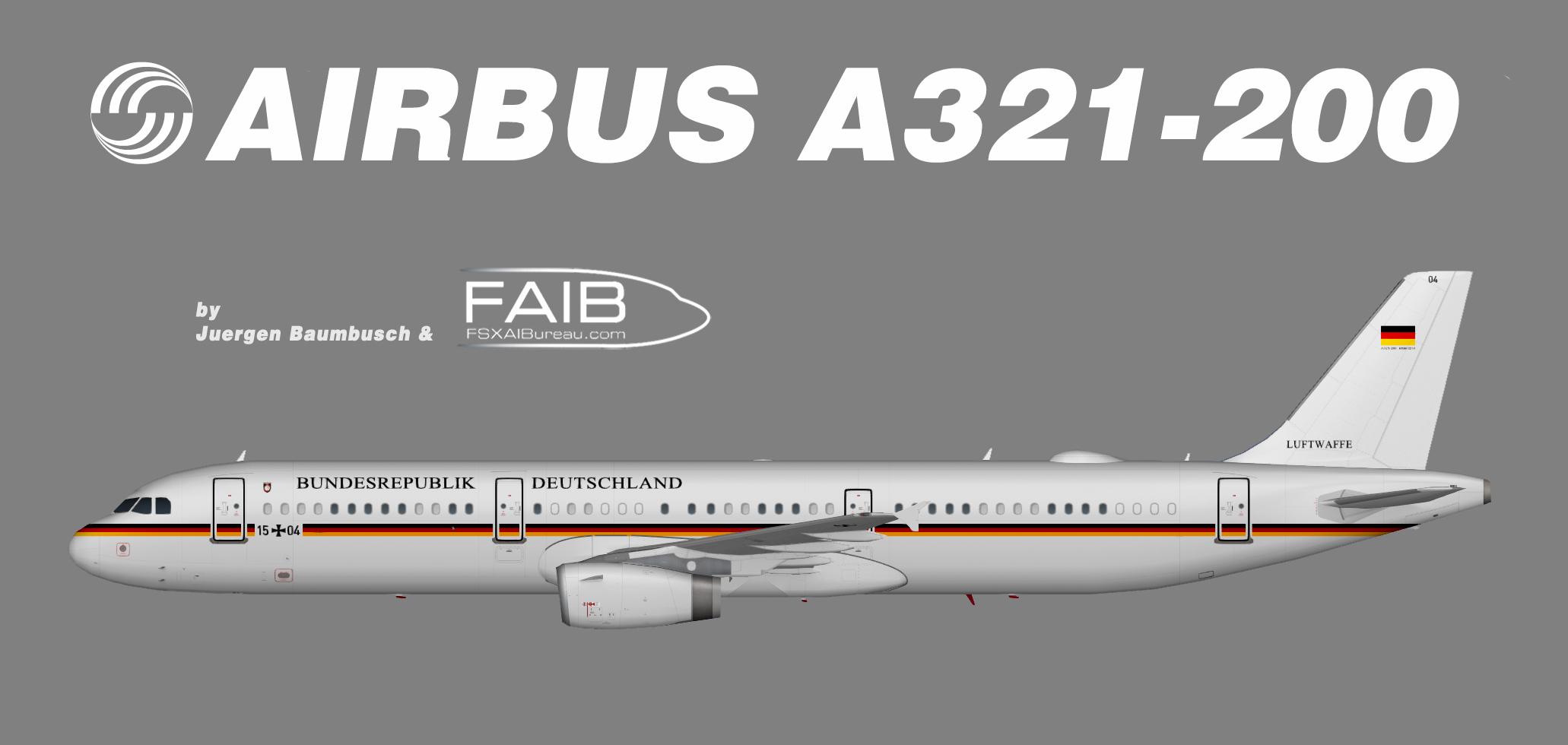 Deutsche Luftwaffe Flugbereitschaft Airbus A321-200