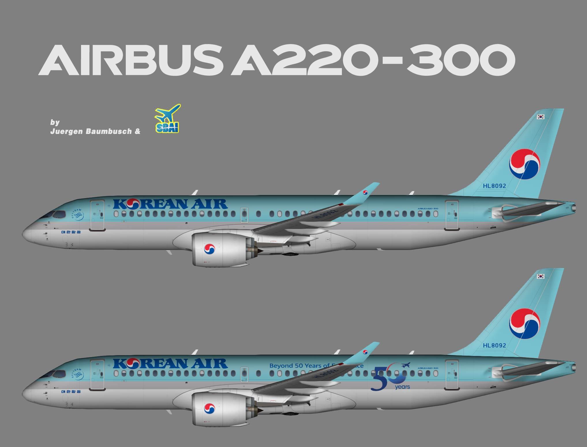 Korean Air Airbus A220-300 (SBAI)