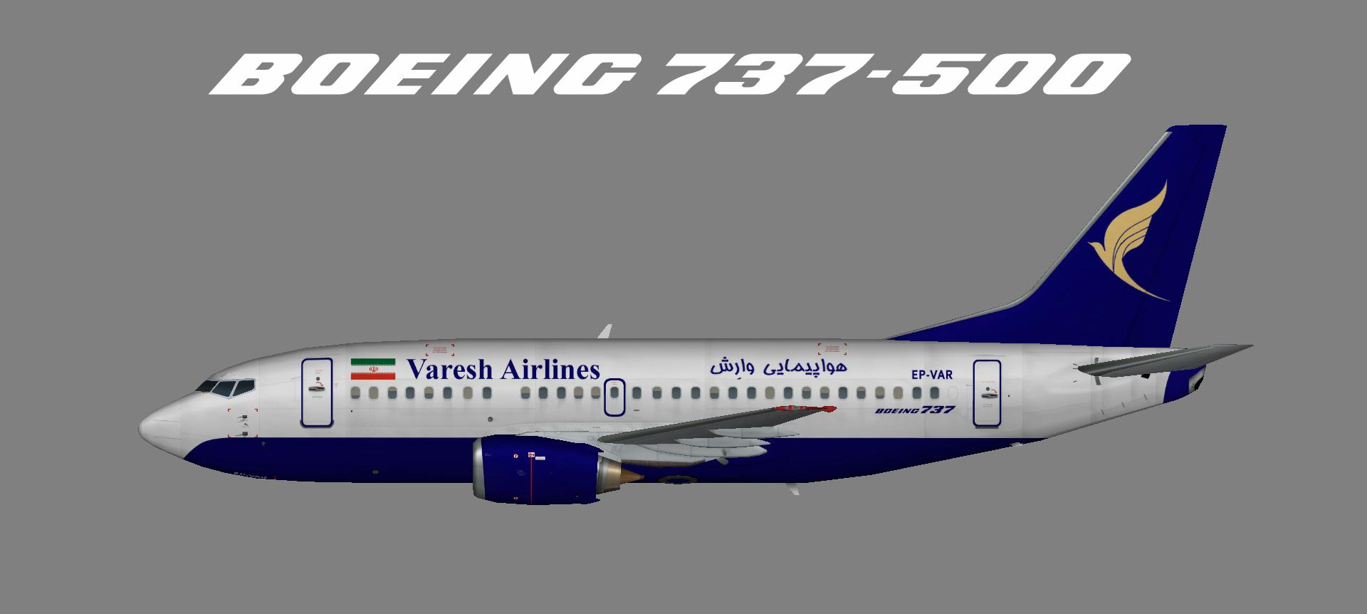 Varesh Airlines Boeing 737-500