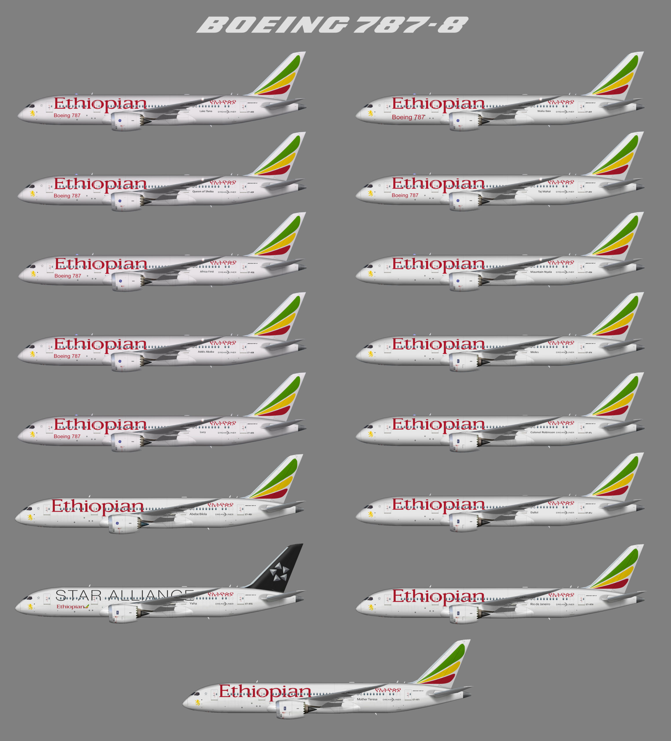 FSP Ethiopian Airlines Boeing 787-8