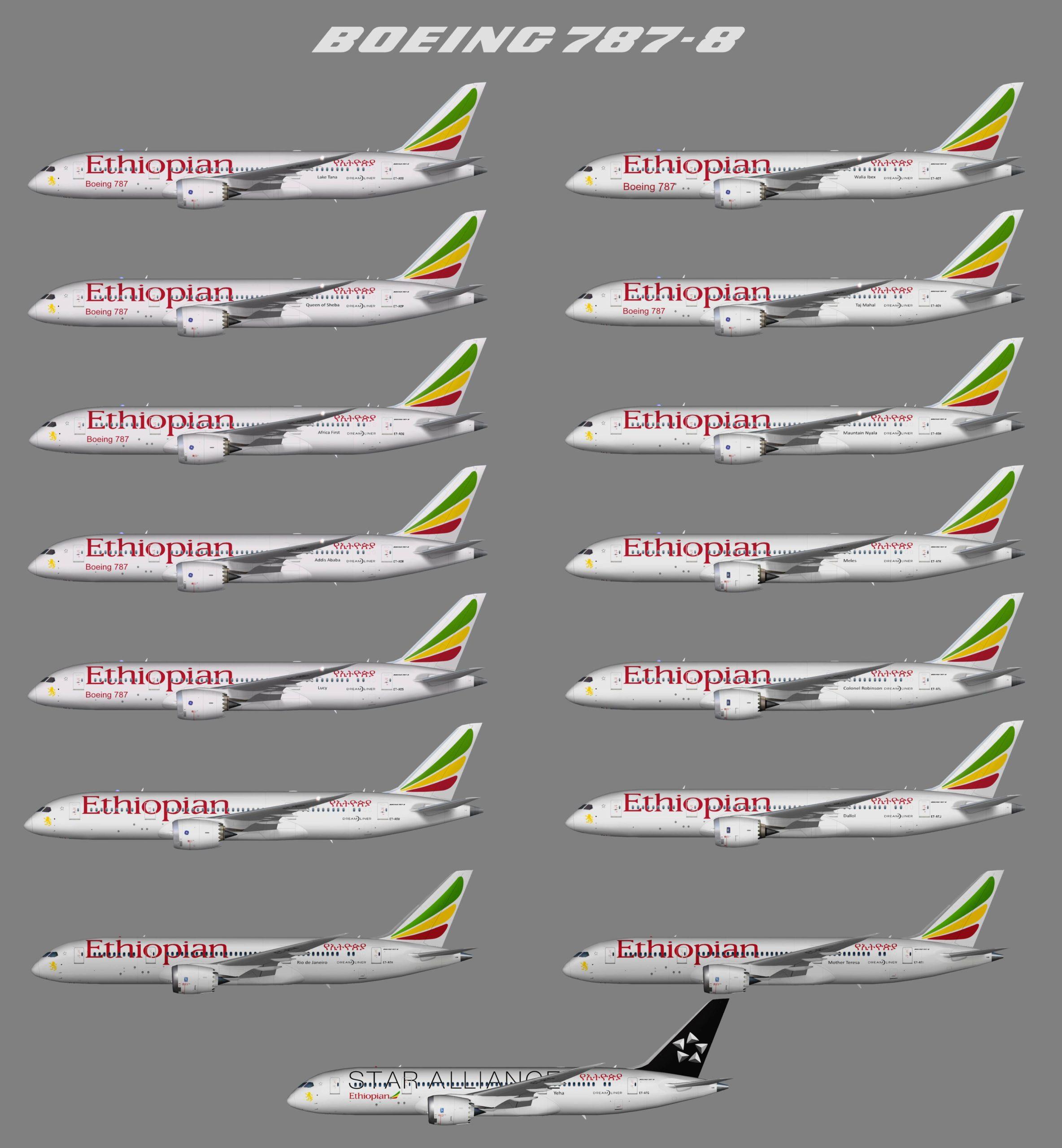 UTT Ethiopian Airlines Boeing 787-8