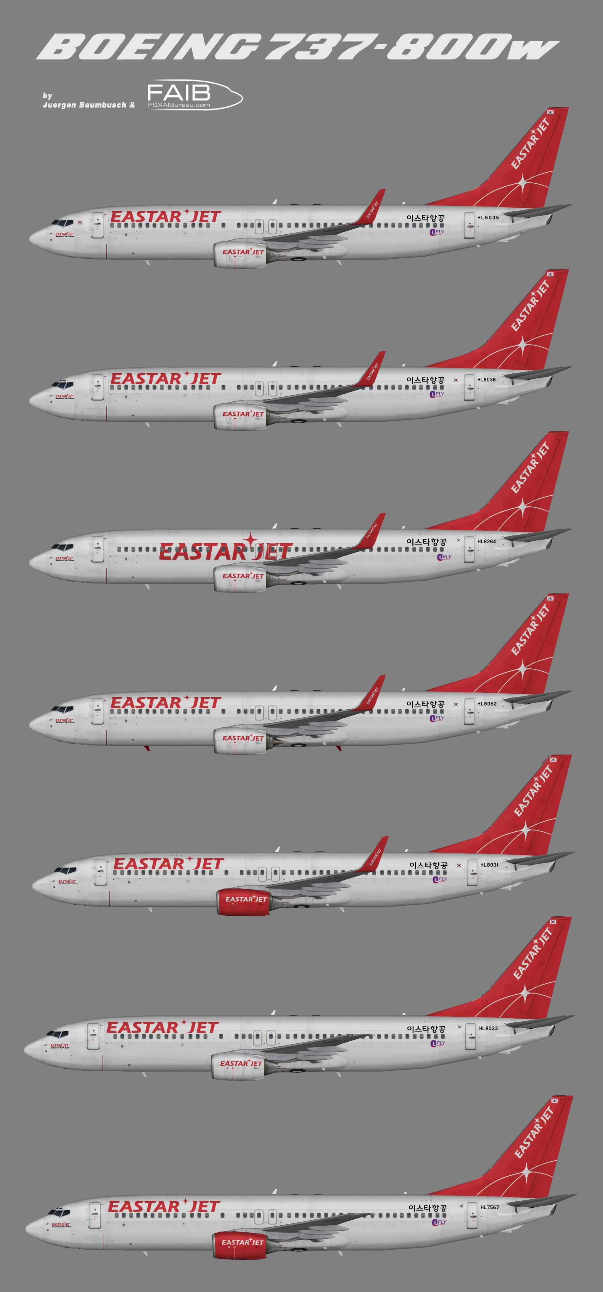 EastarJet Boeing 737-800