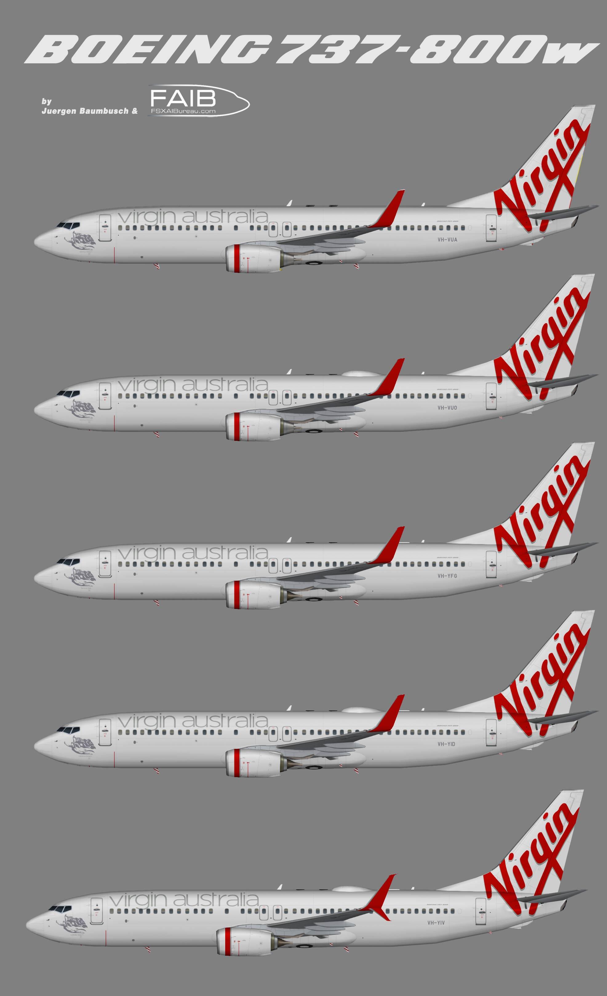 Virgin Australia Boeing 737-800w