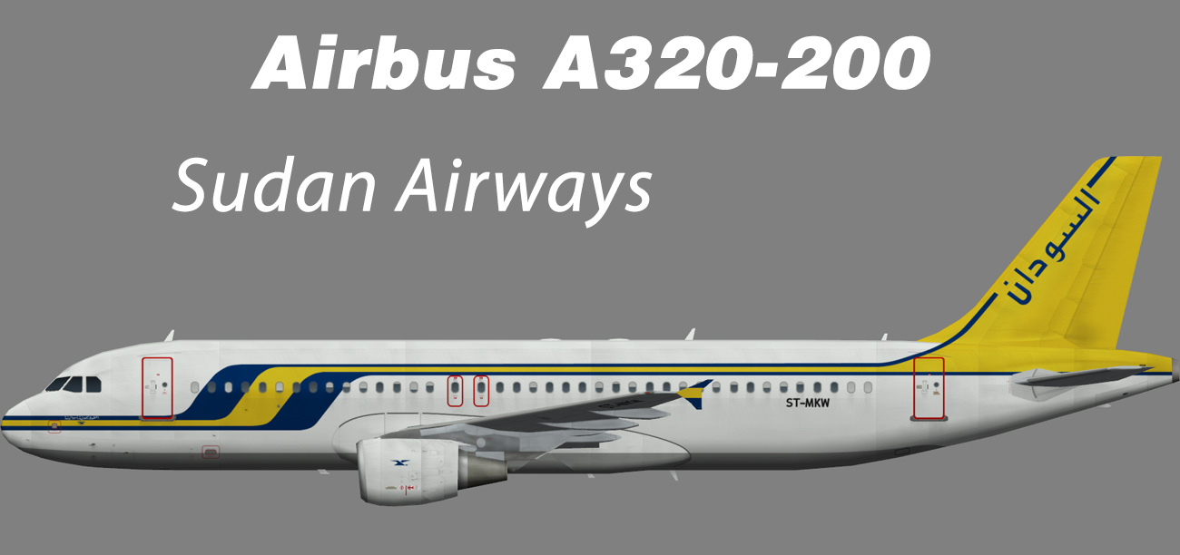 Sudan Airways Airbus A320-200 – Nils