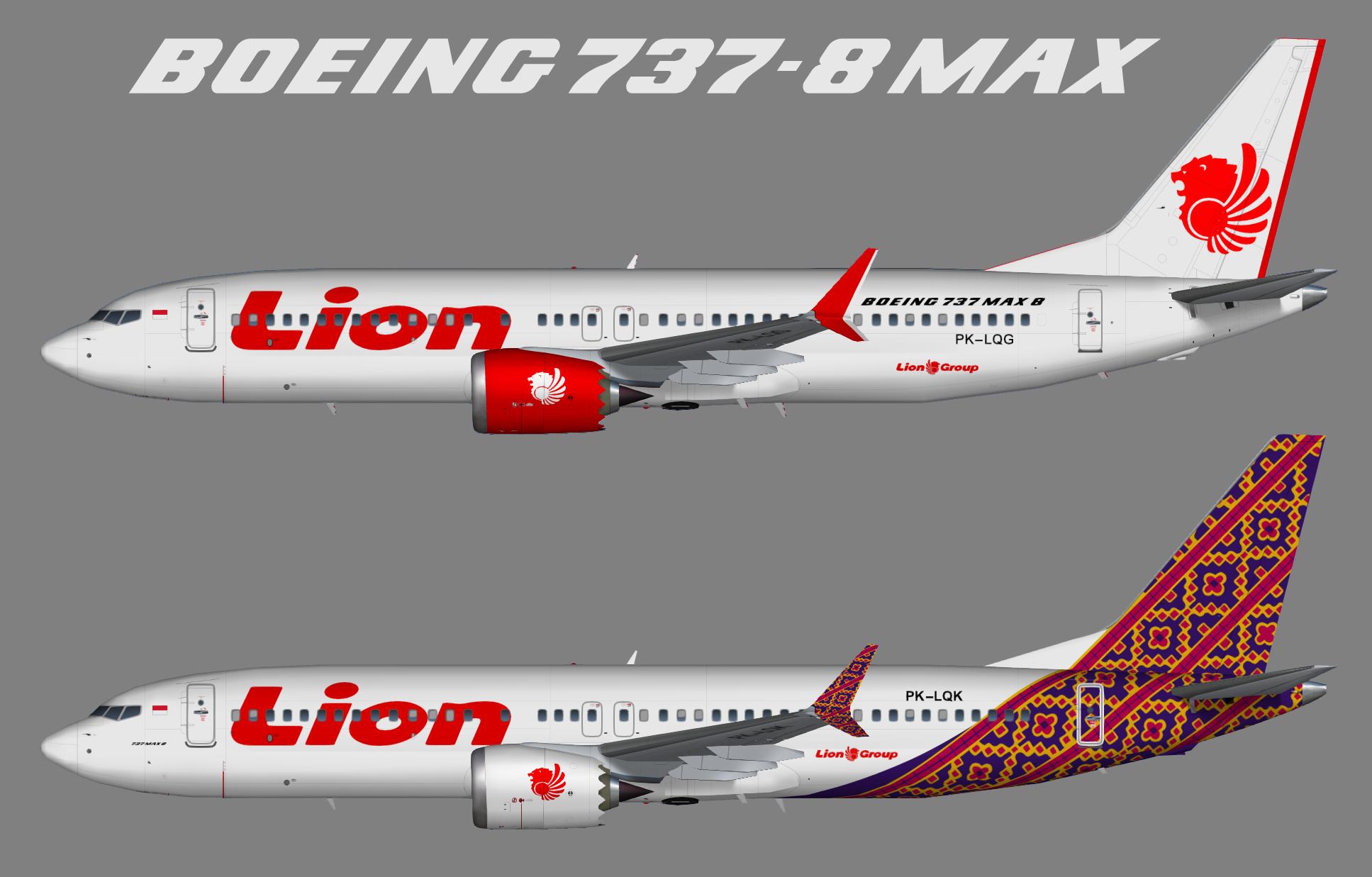 Lion Air Boeing 737 MAX 8 – Juergen's paint hangar
