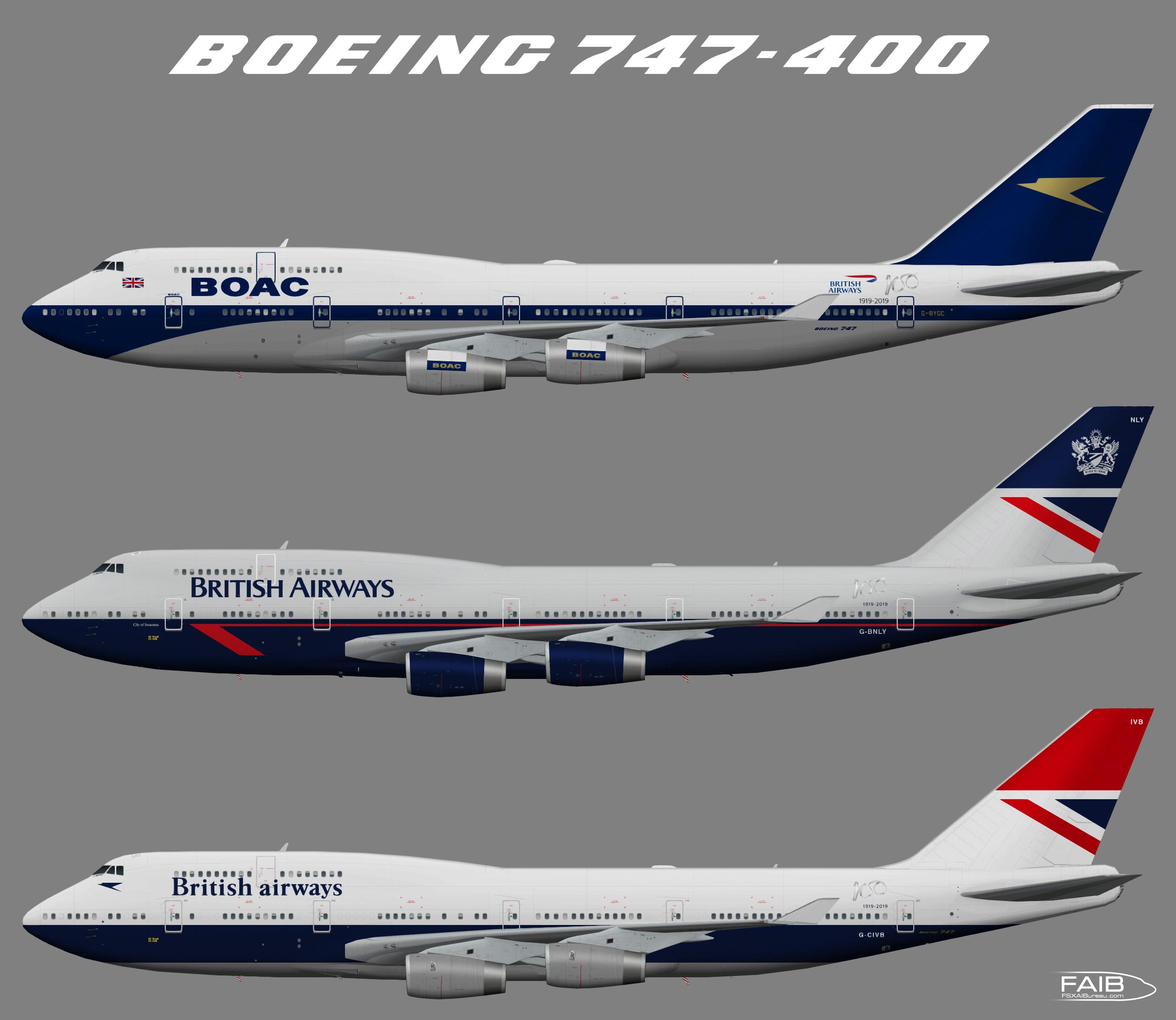 British Airways (Retro liveries 100th Jubilee) Boeing 747-400