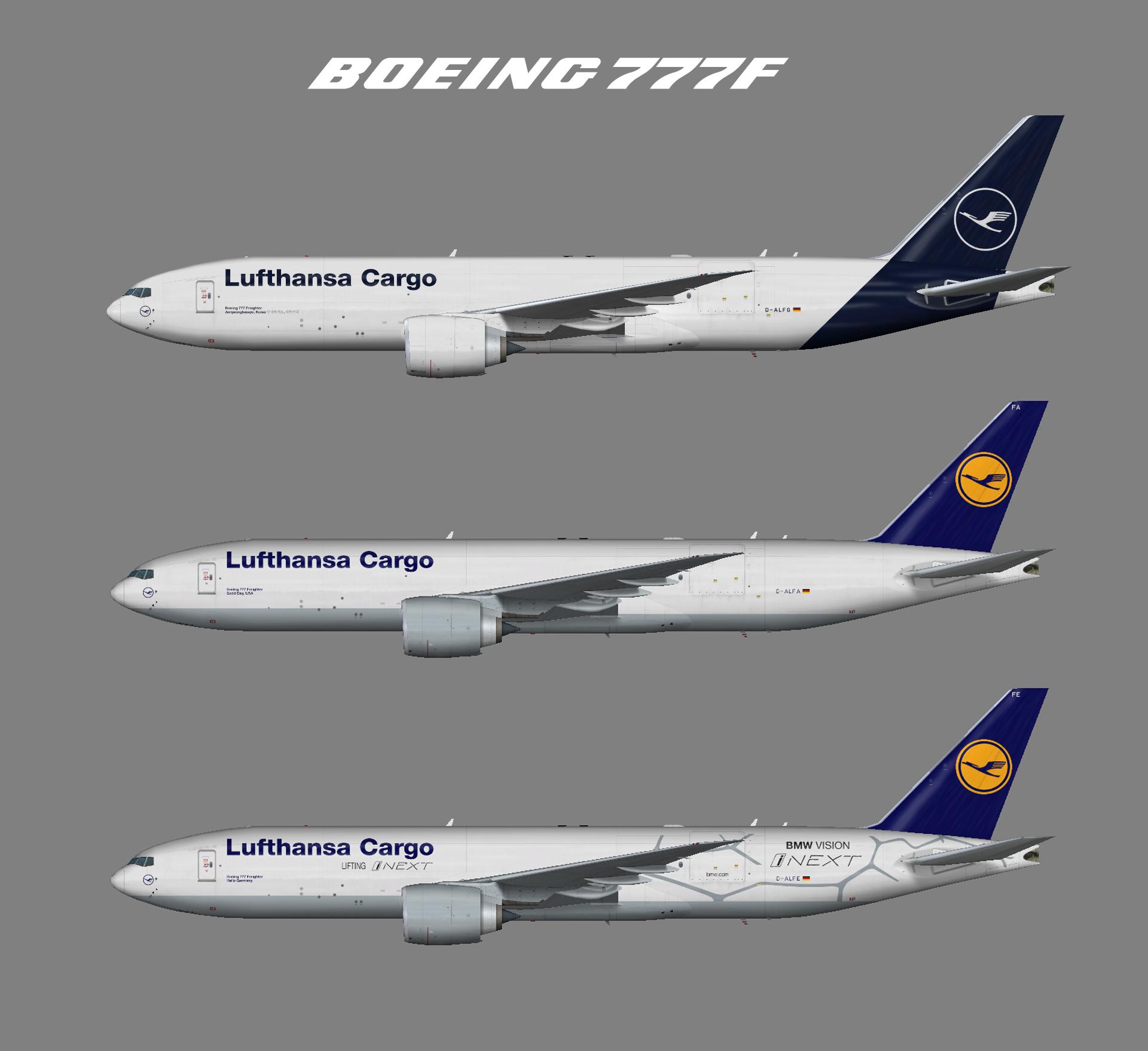 Lufthansa Cargo Boeing 777F (FSP)