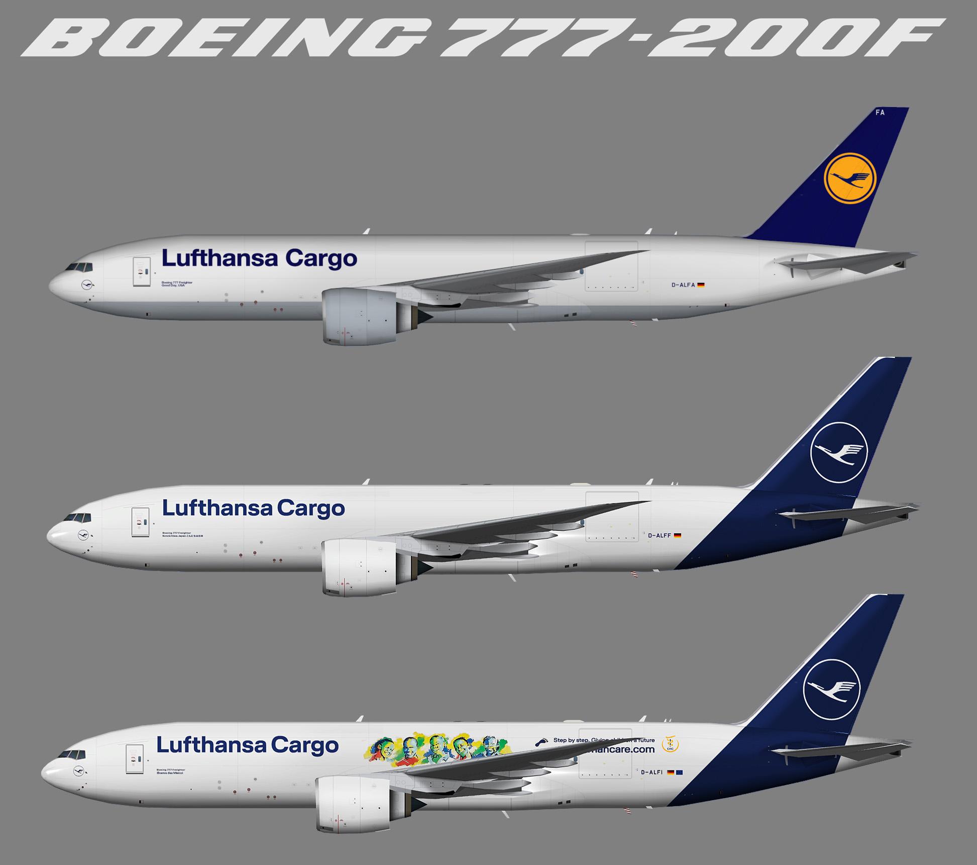 Lufthansa Cargo Boeing 777-200 Freighter (TFS)