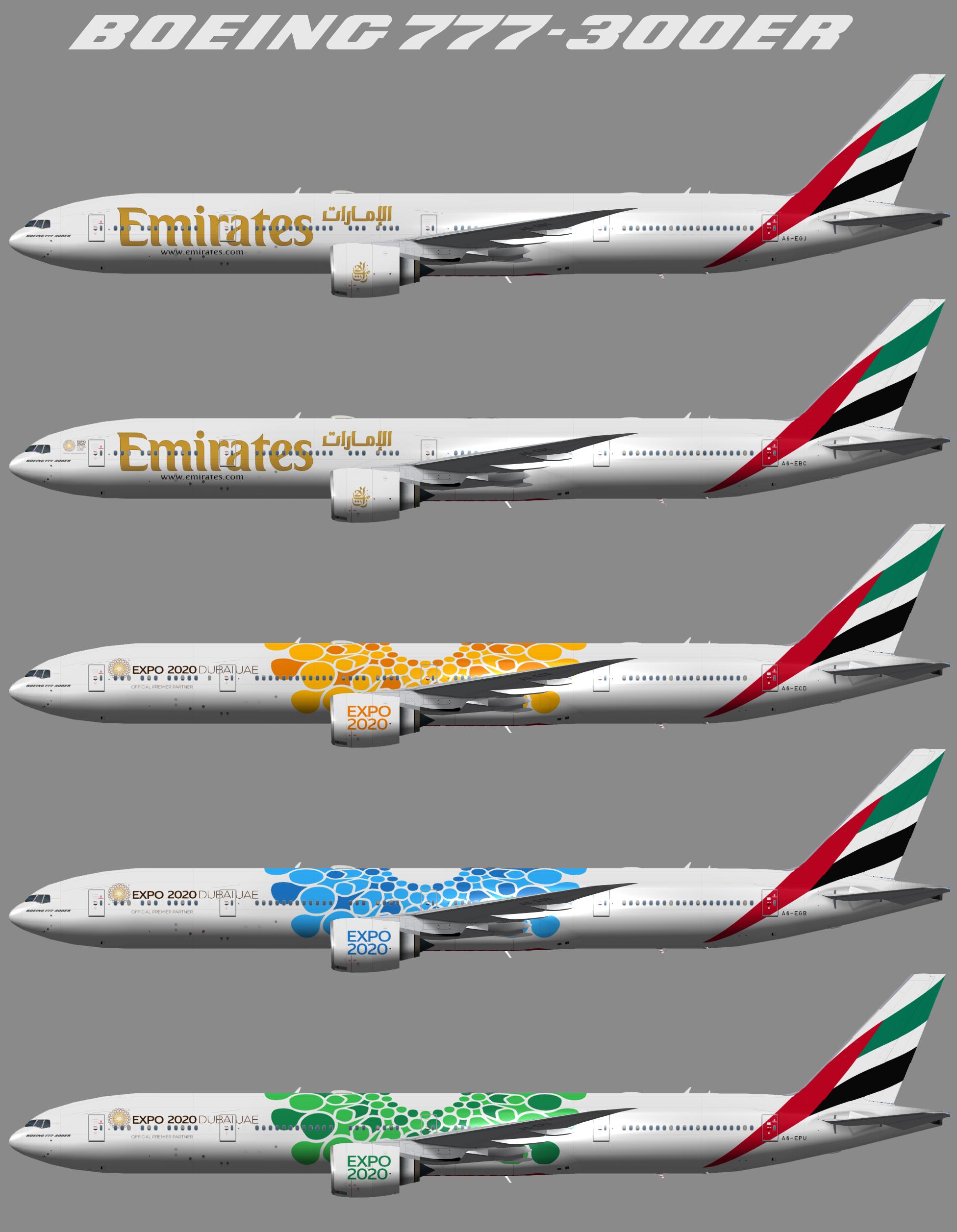Emirates Boeing 777-300ER (TFS)