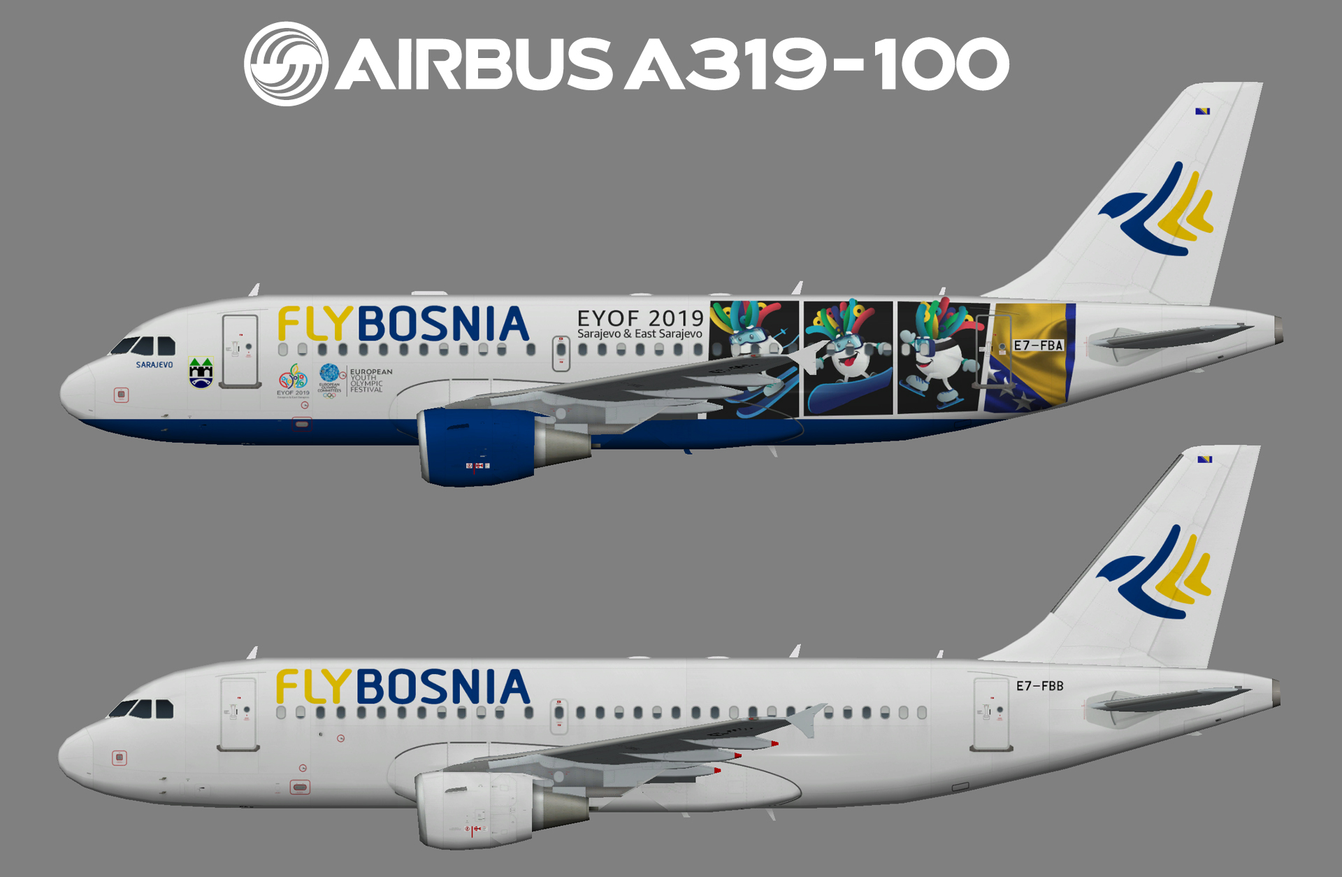 FlyBosnia Airbus A319-100