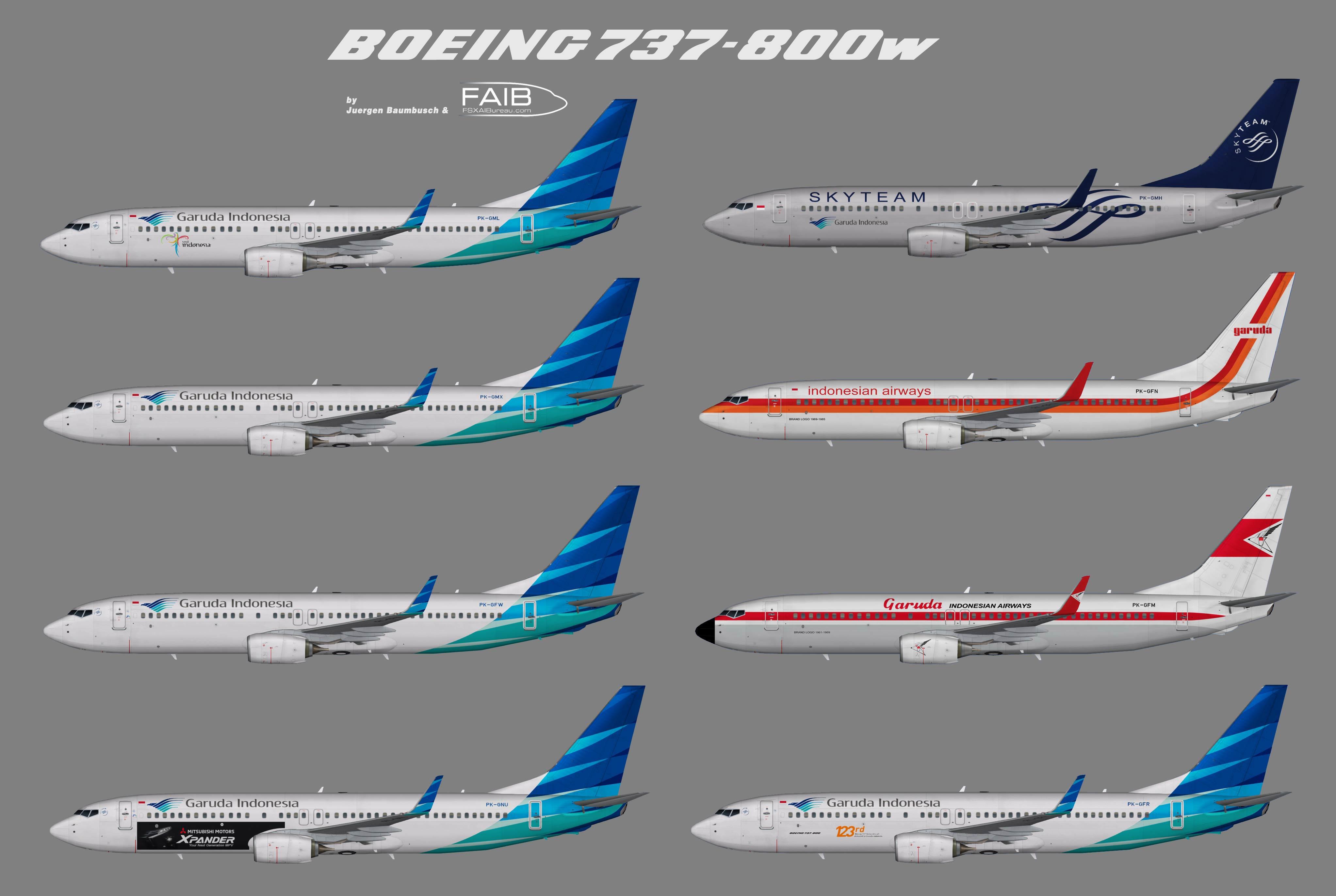 Garuda Indonesia Boeing 737-800w