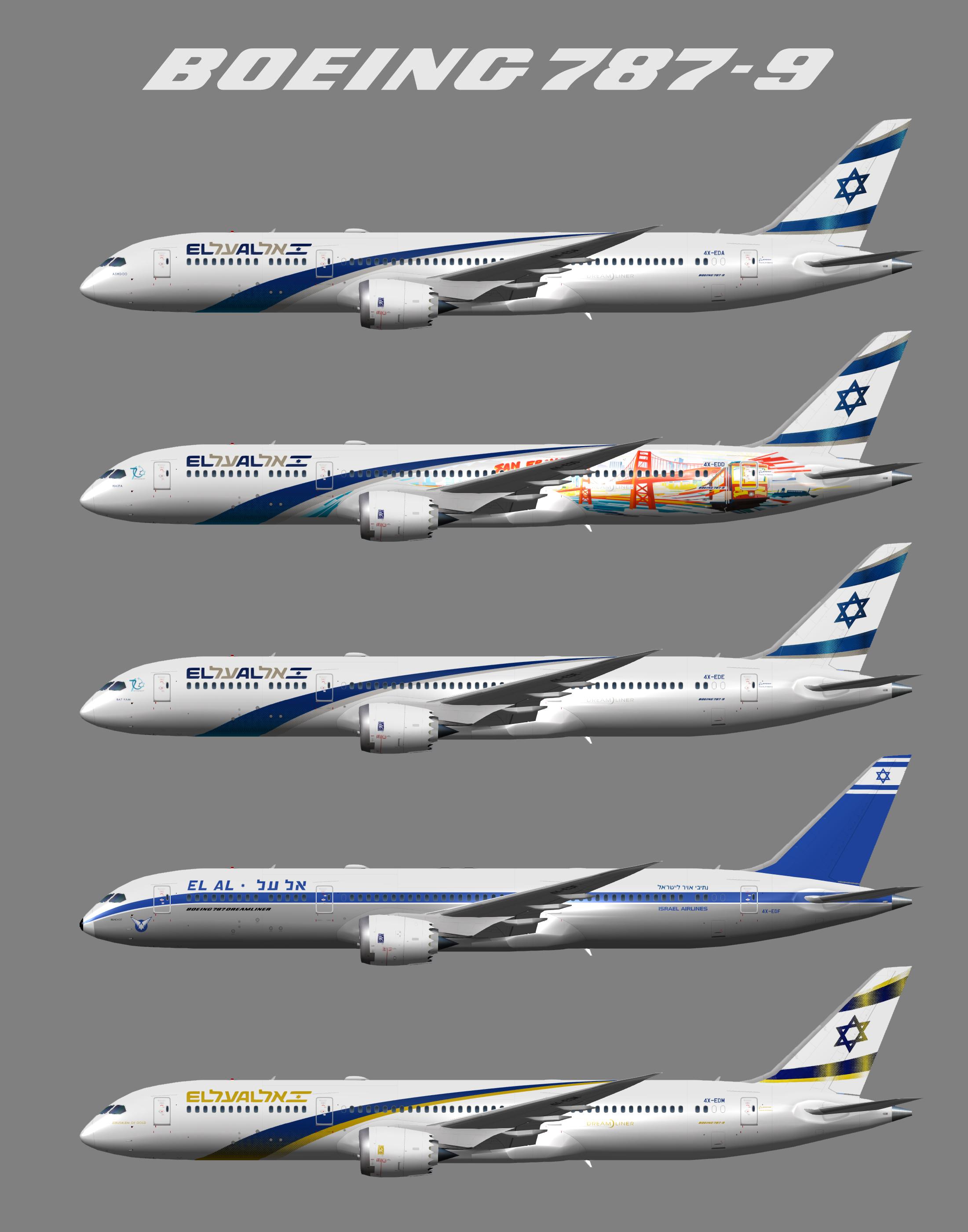 Boeing 787-9 El Al Israeli Airlines (UTT)