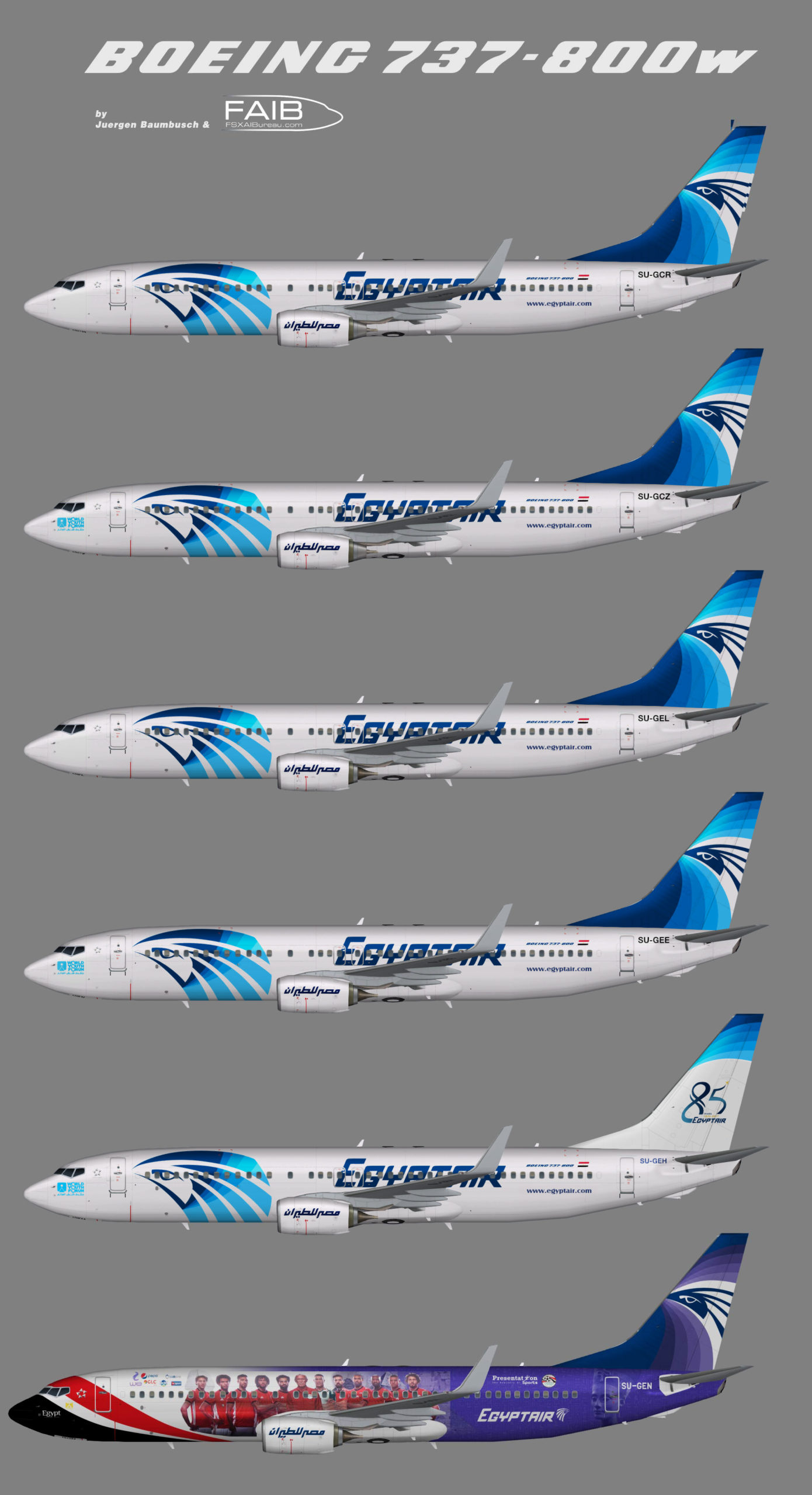 Egyptair NC Boeing 737-800w
