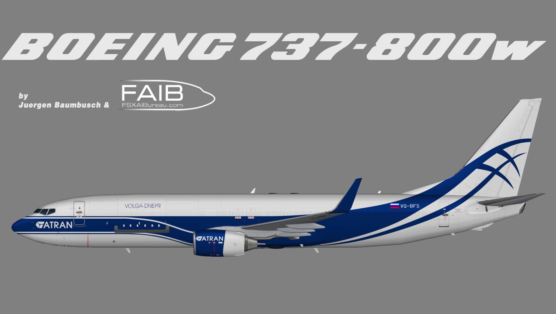 Atran Cargo Boeing 737-800 w (P2F)