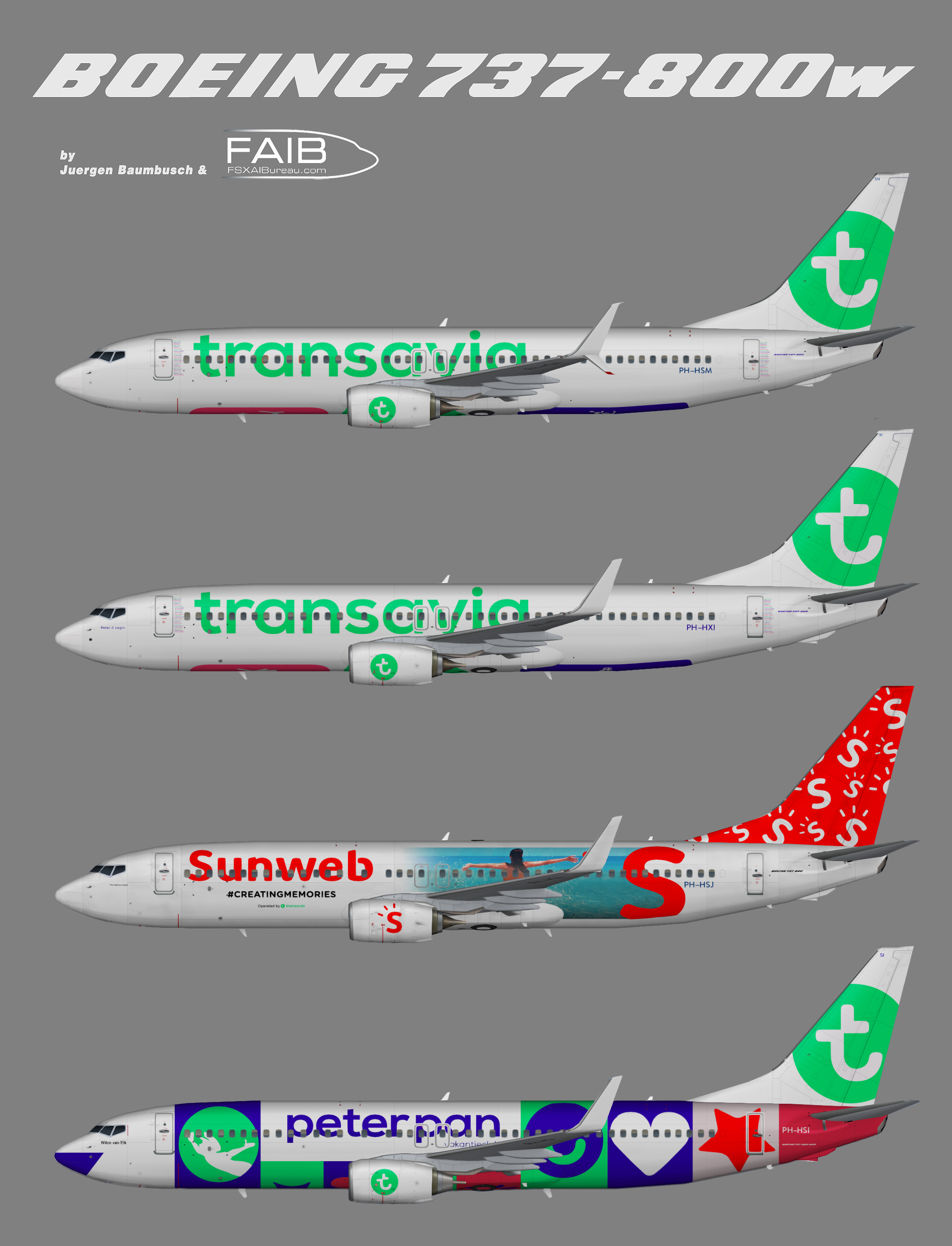 Transavia Boeing 737-800w