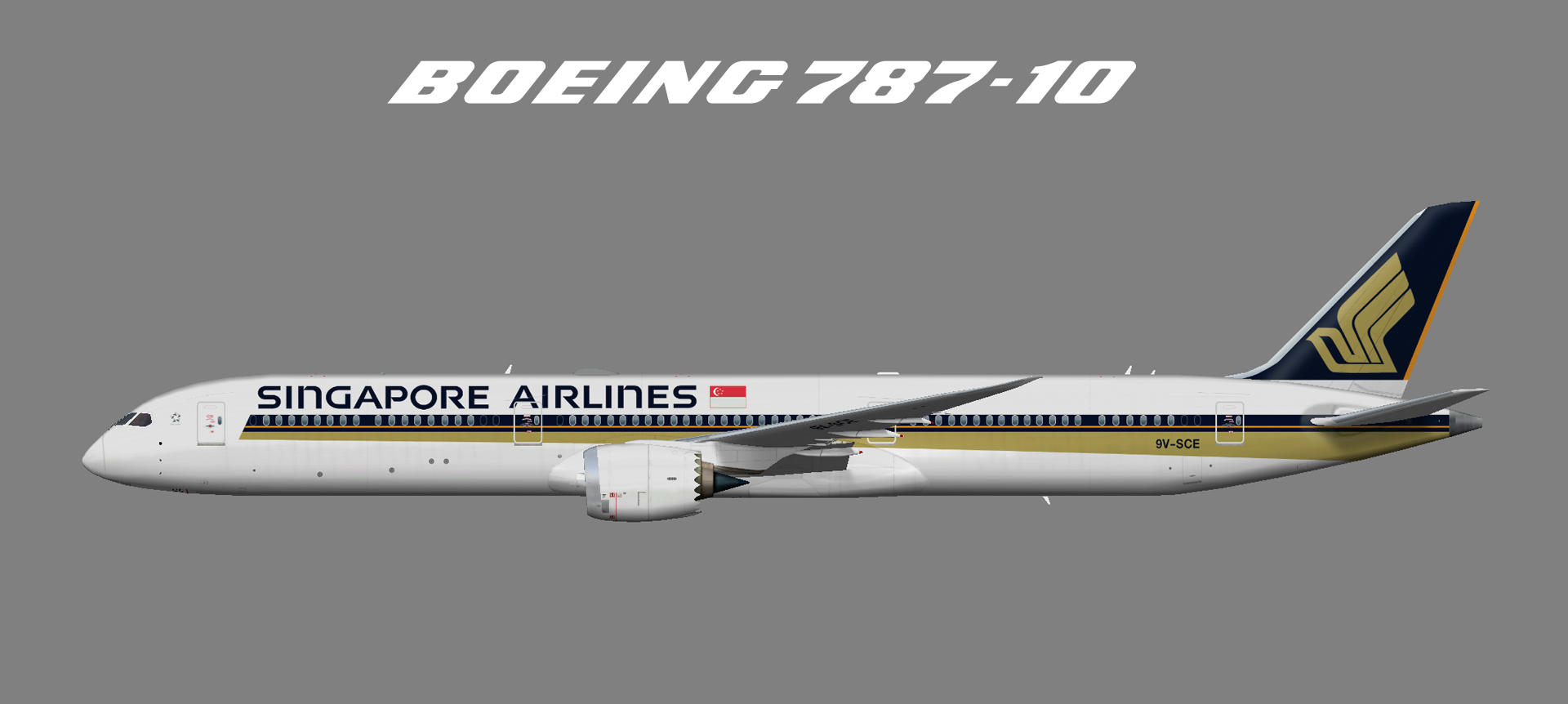 Singapore Airlines Boeing 787-10 (FSP)